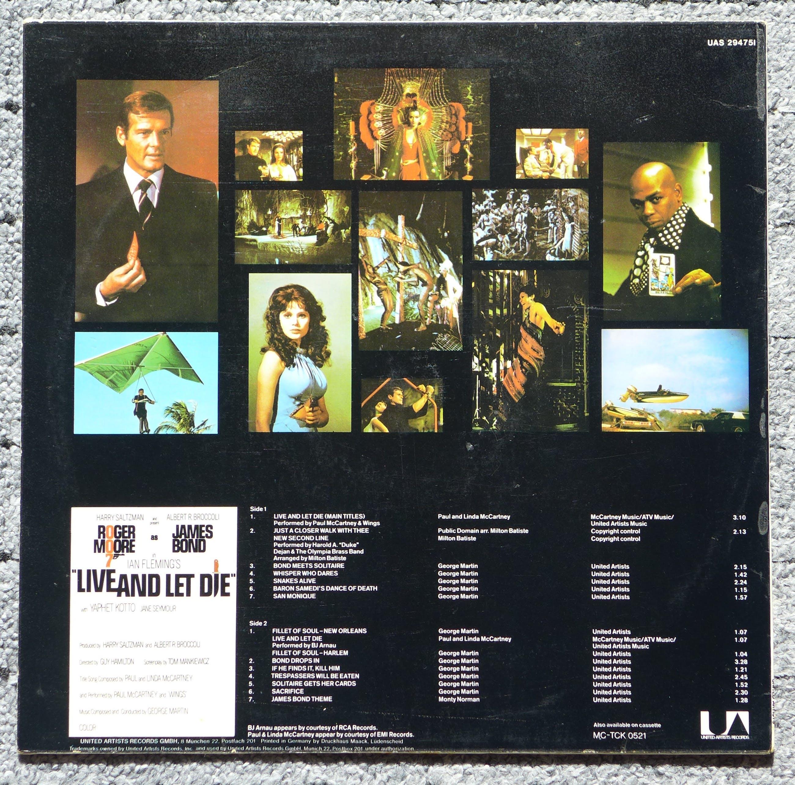 Paul McCartney - James Bond Live And Let Die LP signiert Roger Moore Jane Seymour Lois Maxwell +7 kopen? Bied vanaf 129!
