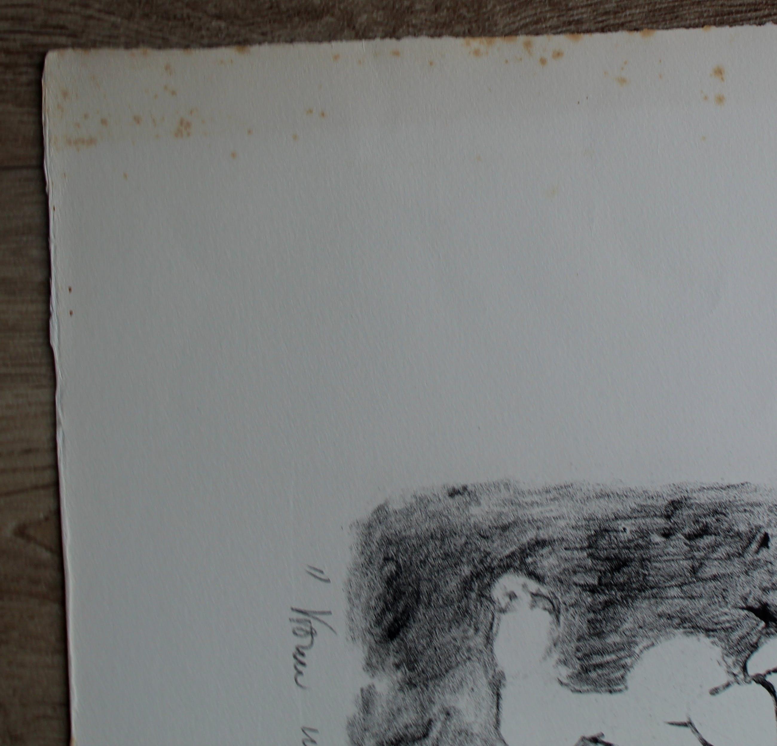 Henri de Haas - Litho: Vrouw met hond - 1967 kopen? Bied vanaf 40!
