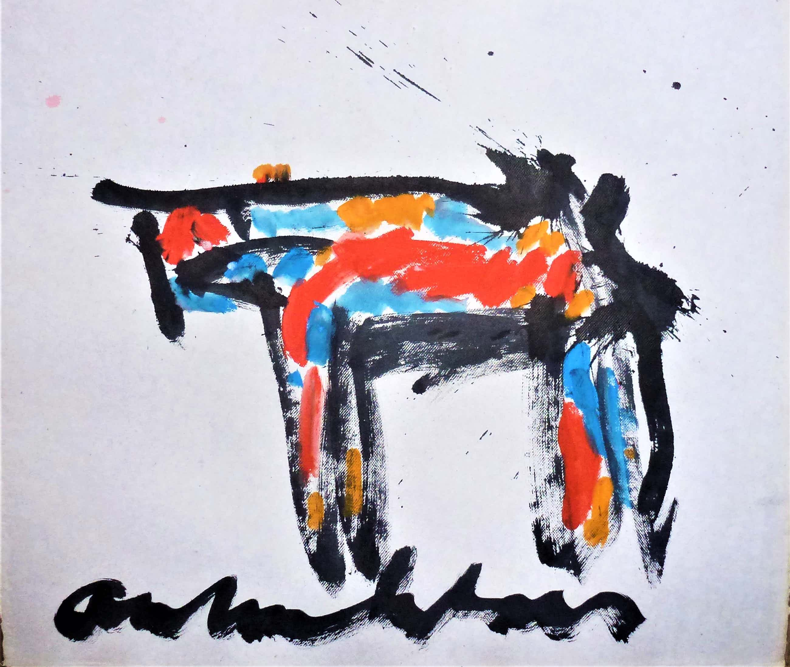 Anton Heyboer - Het dier . Kleurrijke krachtige schildering . kopen? Bied vanaf 200!