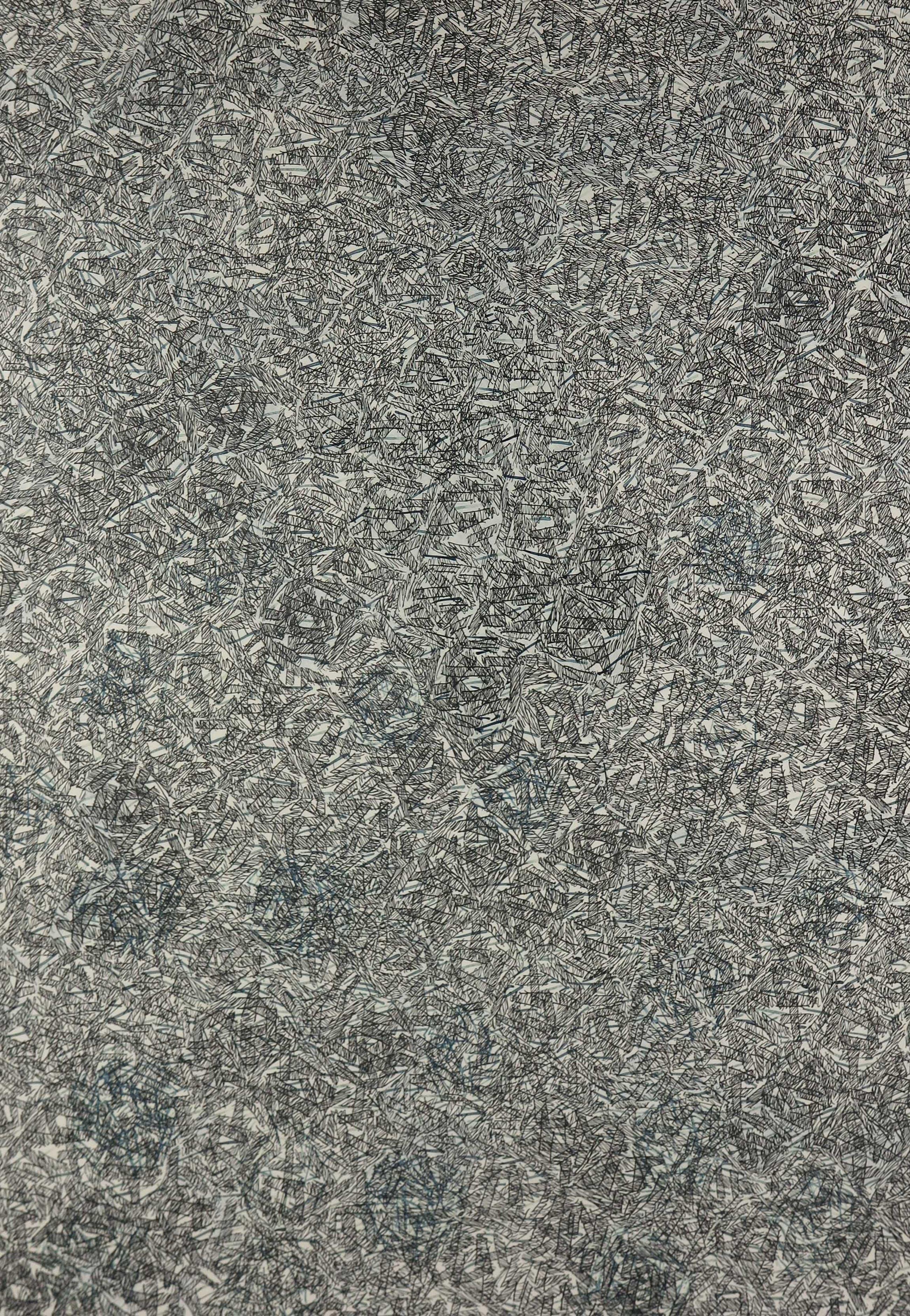 Arnold Pander - Pentekening en collage, Ritme, ruimte vorm 5 - Ingelijst kopen? Bied vanaf 80!