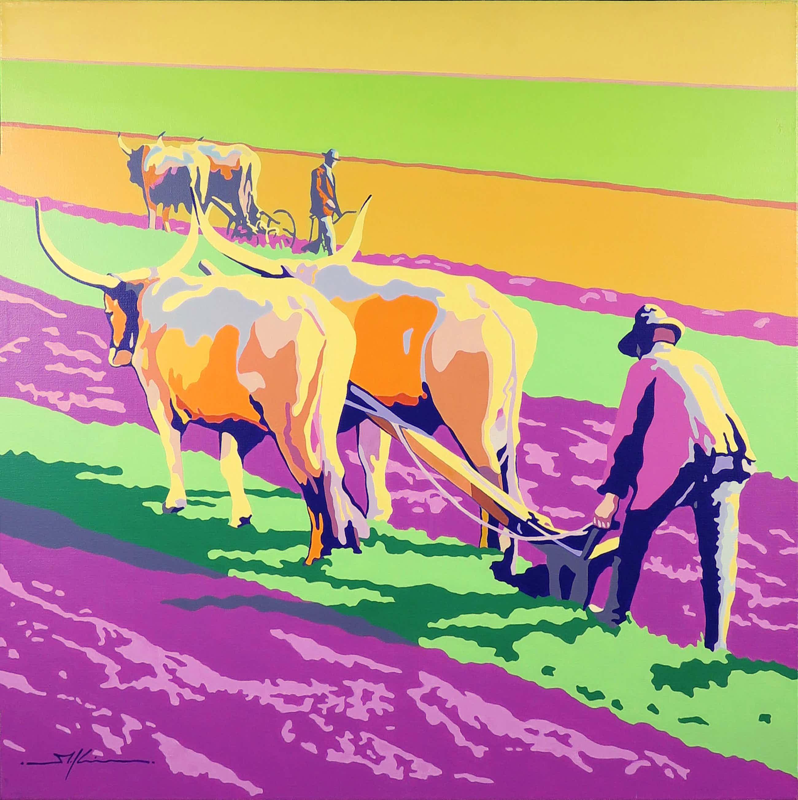 Marco Kooiman - Acryl op doek, Plowing (Groot) kopen? Bied vanaf 102!