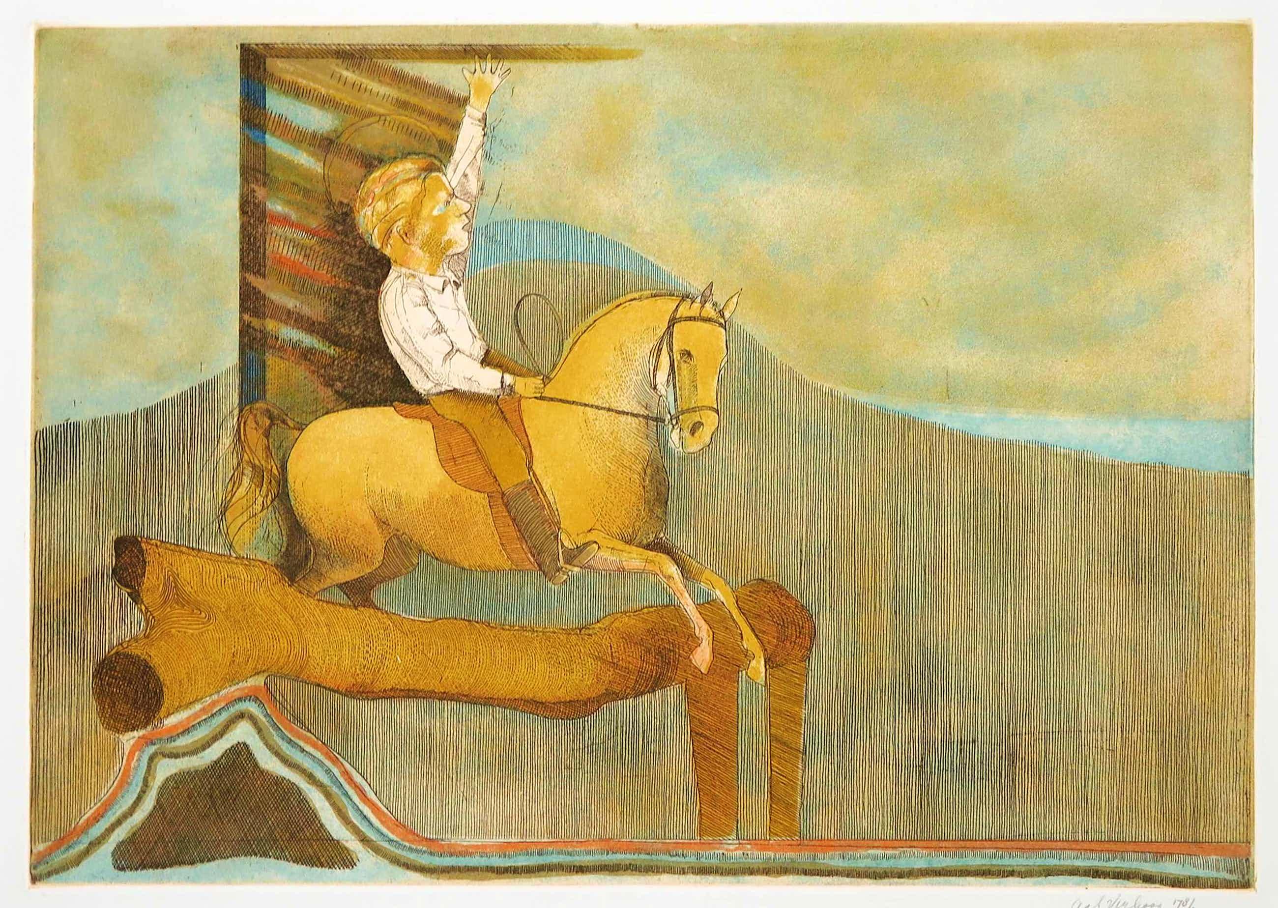 Aat Verhoog - Ets, Z.T. Ruiter te paard kopen? Bied vanaf 35!