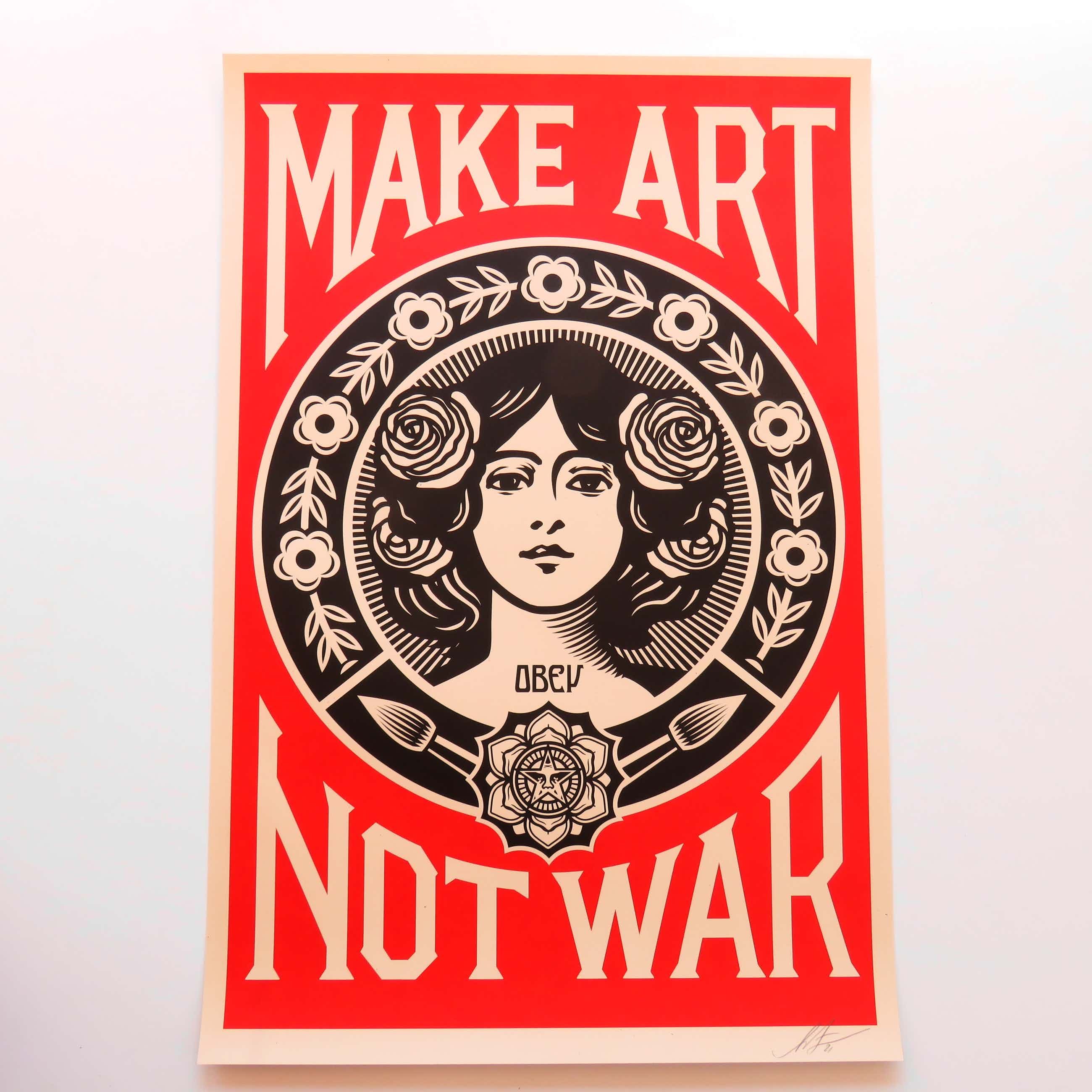 Shepard Fairey - Make Art, Not War kopen? Bied vanaf 60!