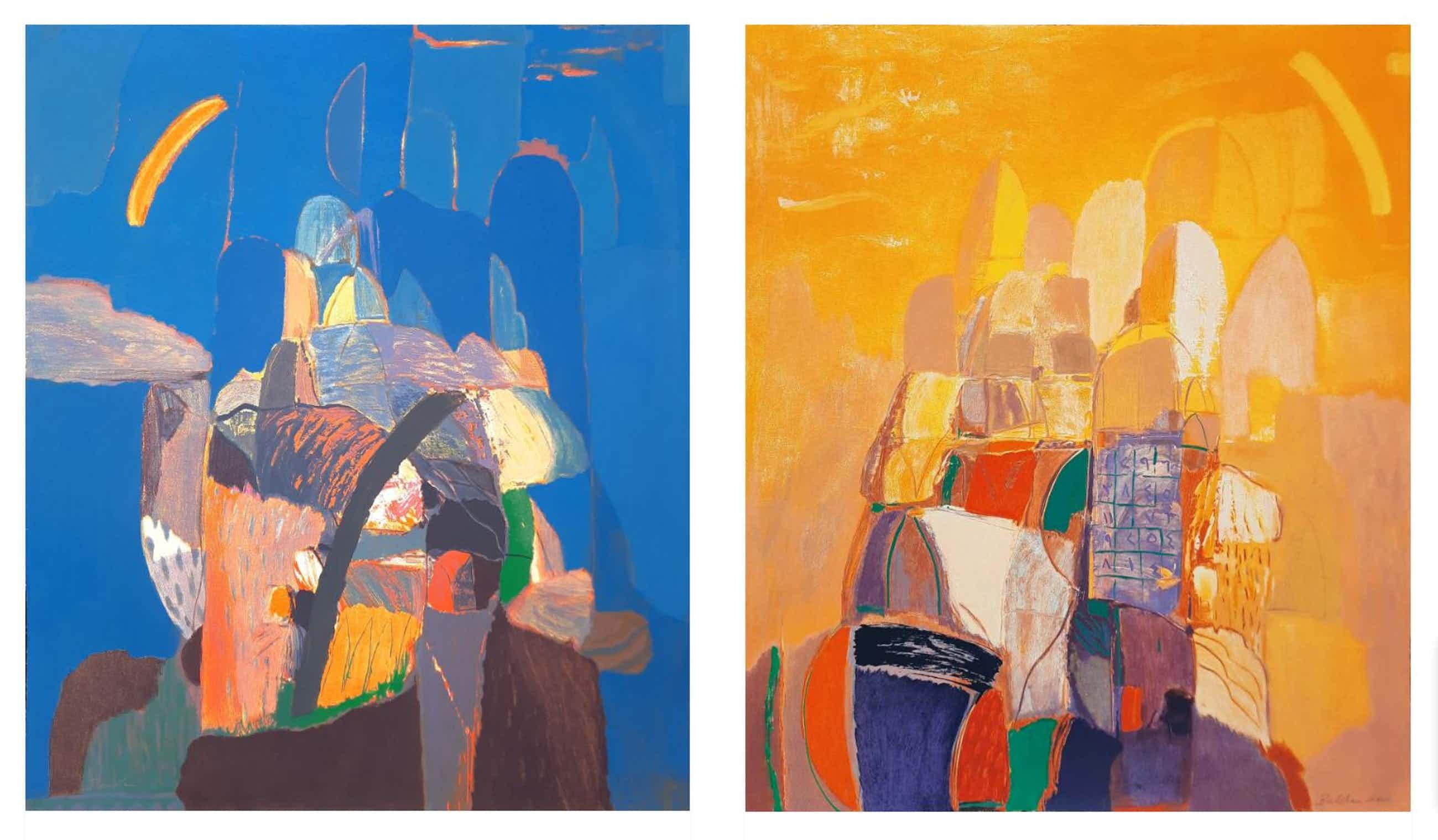 Ahmad Baldin - set van 2 grote zeefdrukken 'Dag & Nacht' - 21501 kopen? Bied vanaf 295!