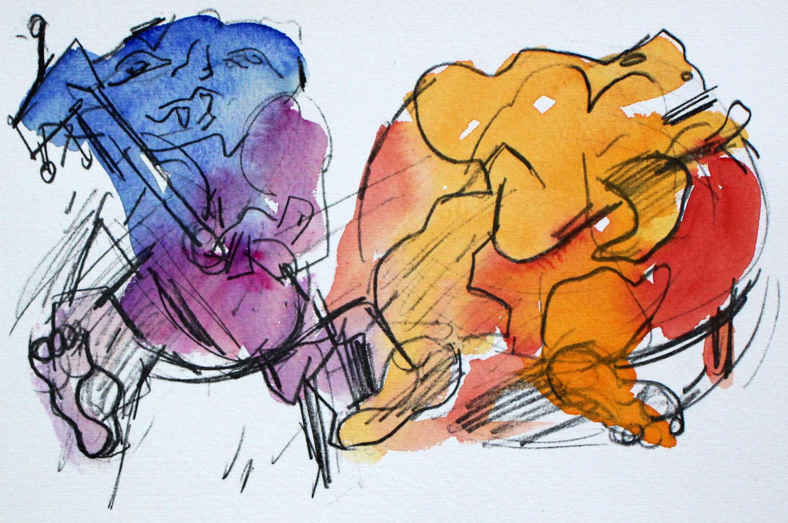 Jan Sierhuis - met de hand ingekleurde litho (aquarel) - 1974 kopen? Bied vanaf 55!