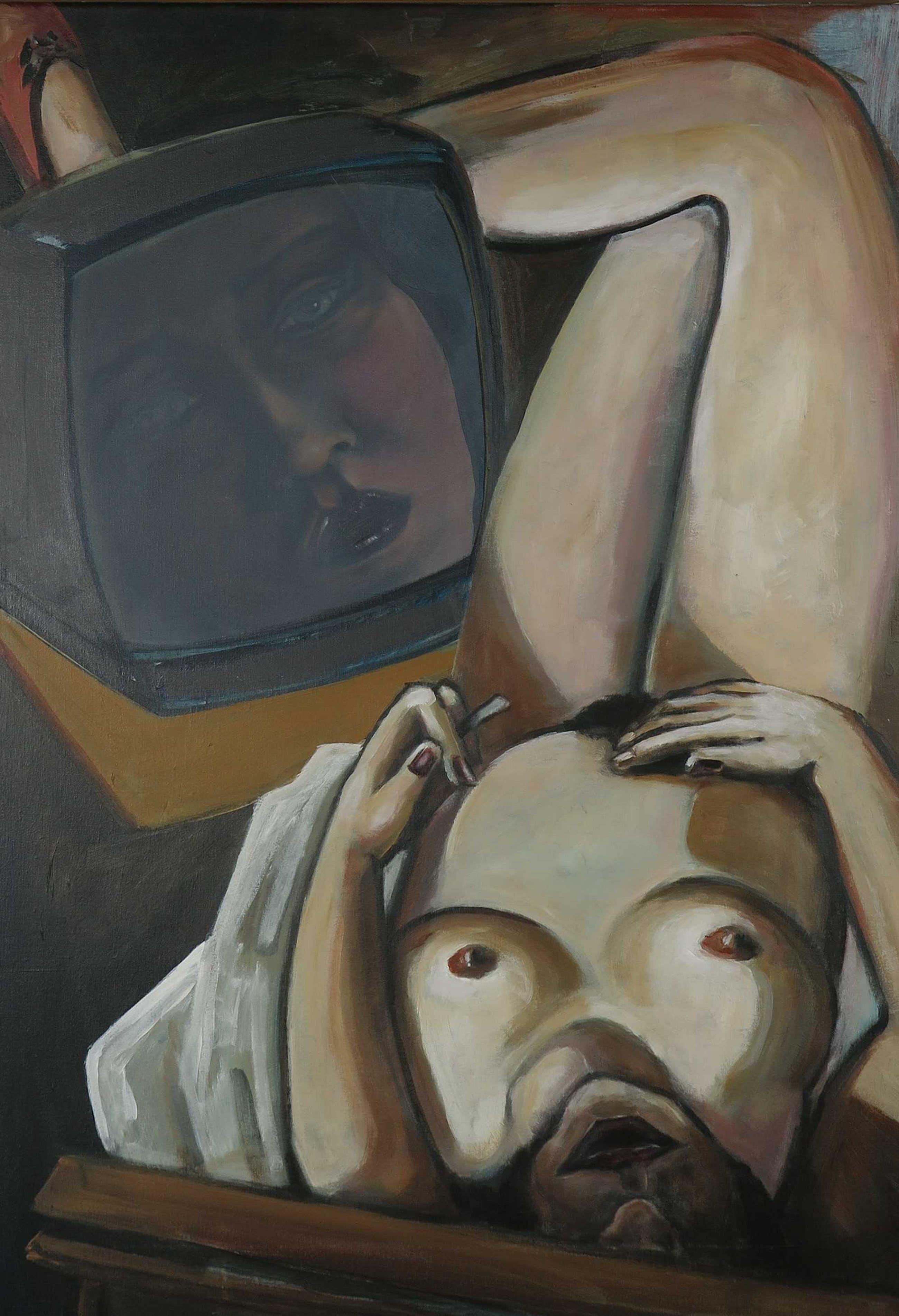 Roel Monster - Repose schilderij op linnen, ingelijst kopen? Bied vanaf 200!