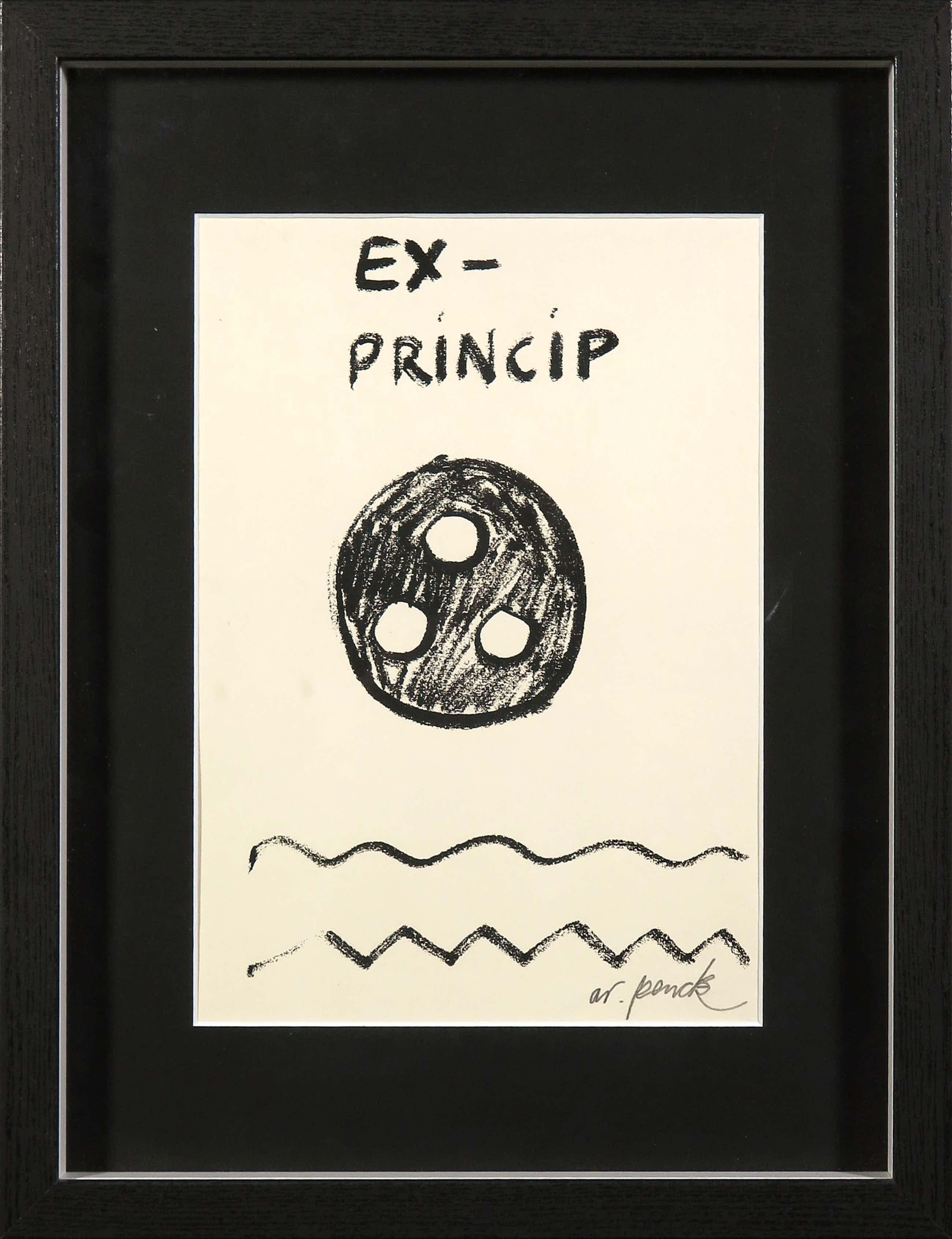 A.R. Penck - Zeldzame, handgesigneerde litho, Ex-Princip kopen? Bied vanaf 131!