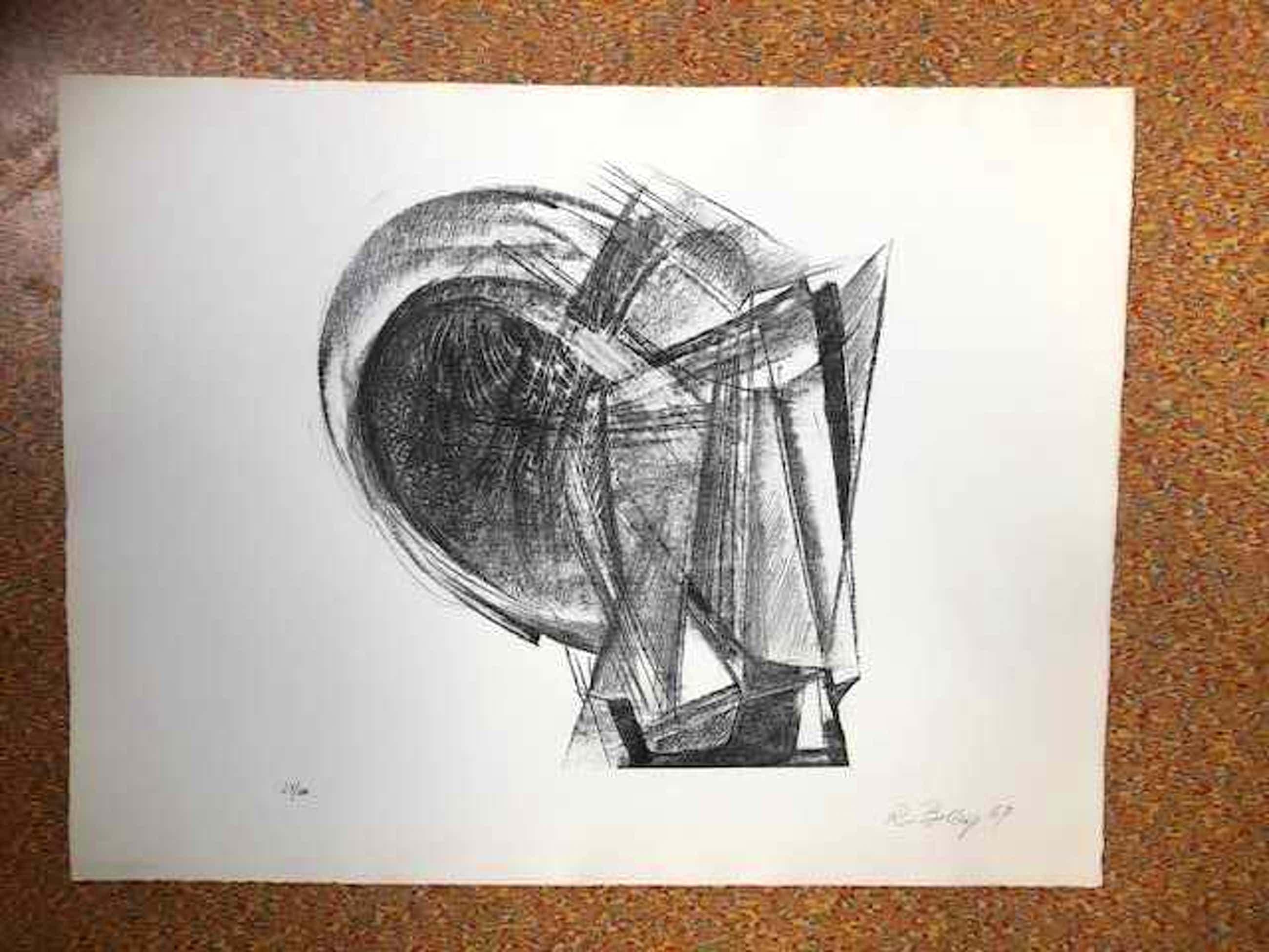Rudolph Belling - Entwurf für eine Plastik - Lithographie - 1967 kopen? Bied vanaf 125!