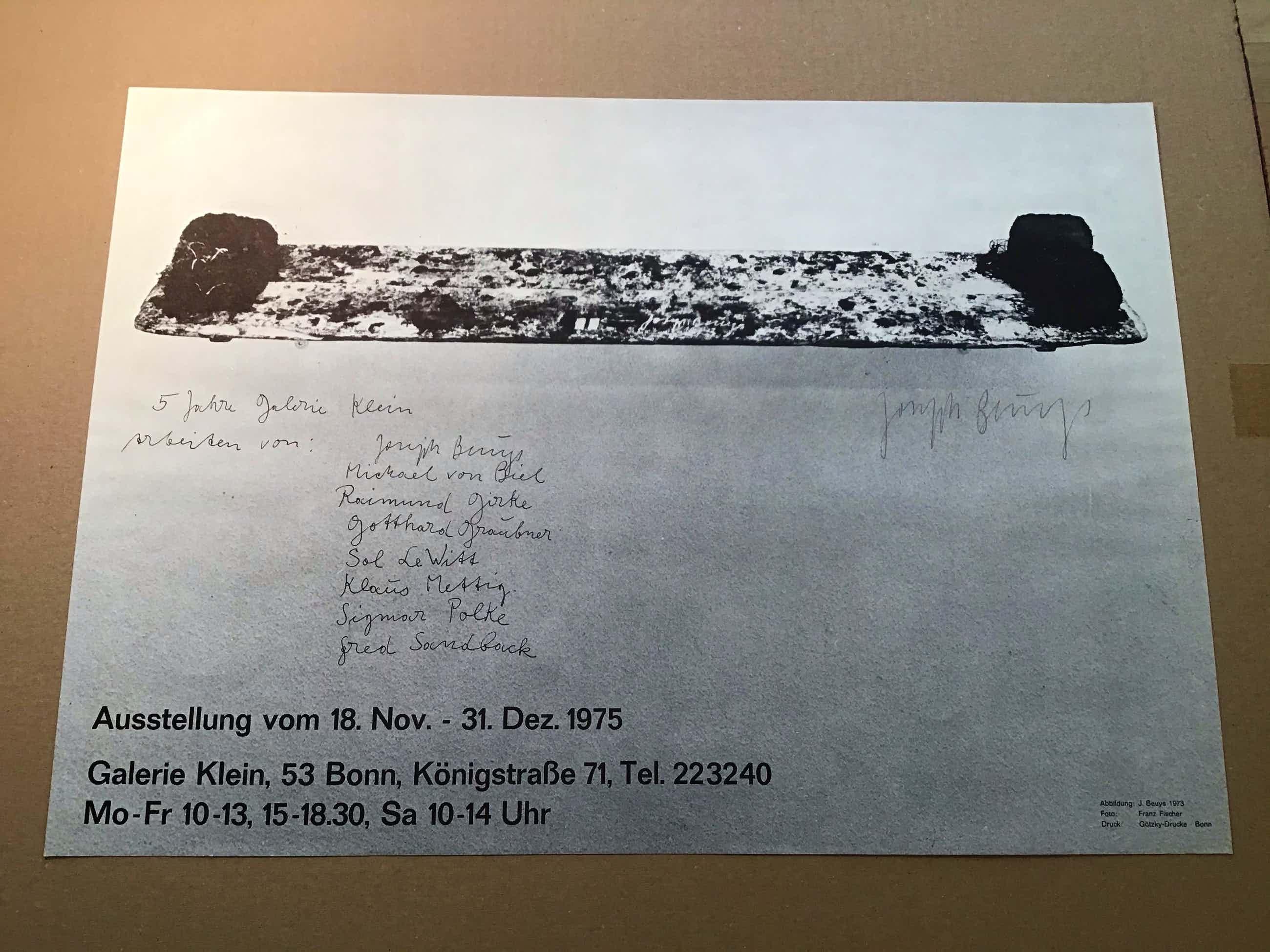 Joseph Beuys - handsign.Ausstellungsplakat- 5-Jahre Galerie Klein, Bonn kopen? Bied vanaf 250!