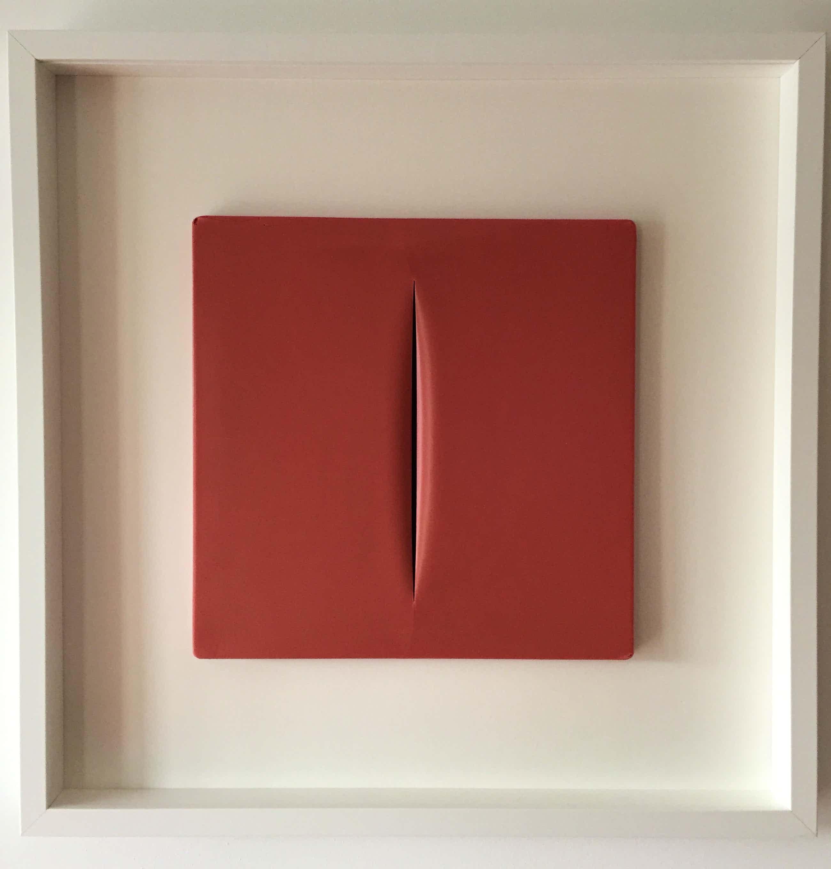 Lucio Fontana - CONCETTO SPAZIALE, originales Kunstobjekt von 1968 kopen? Bied vanaf 3900!