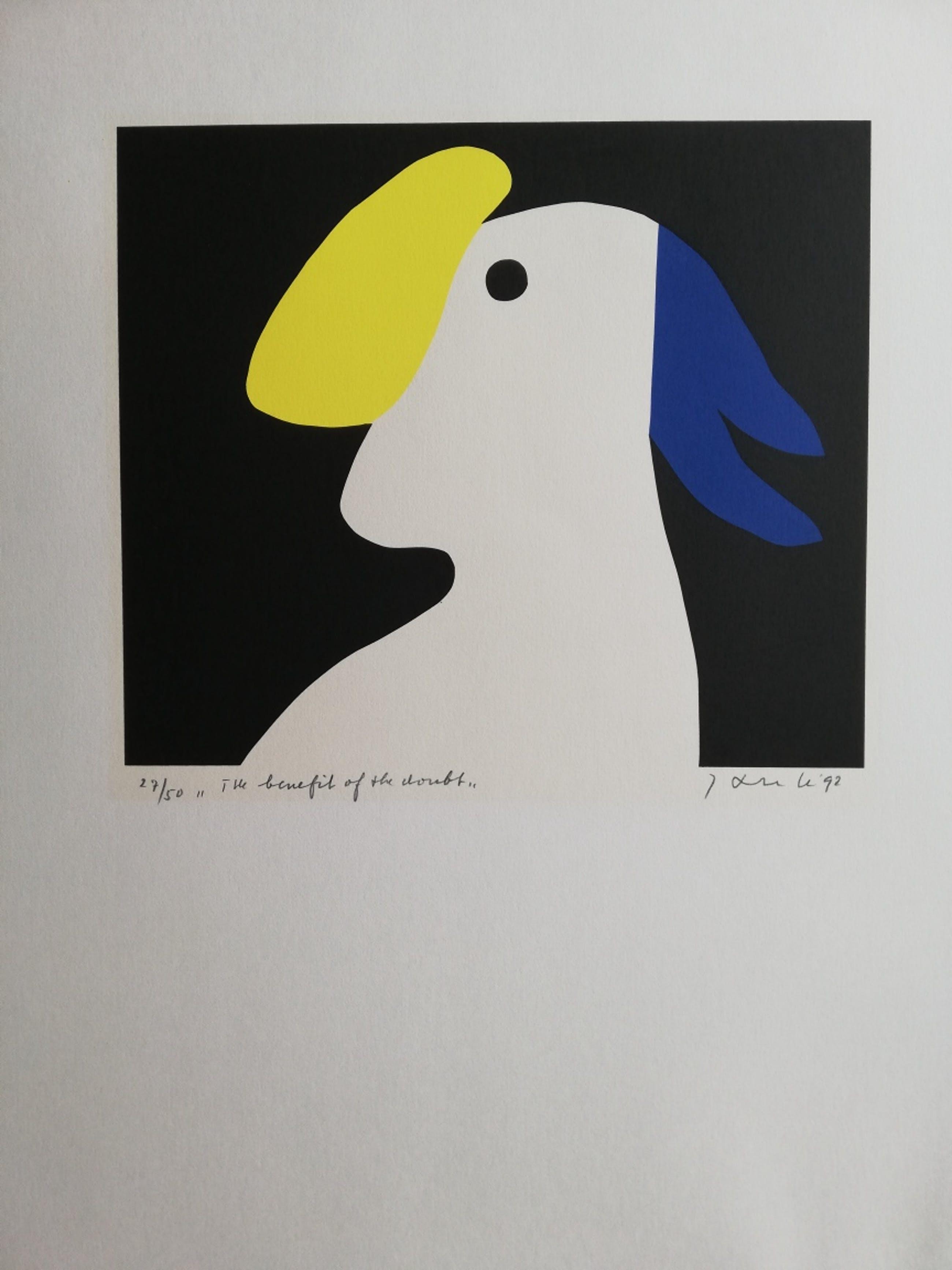 Jan Snoeck - THE BENEFIT OF THE DOUBT / KLEURZEEFDRUK / 56x45cm / SIG / 1992 kopen? Bied vanaf 25!