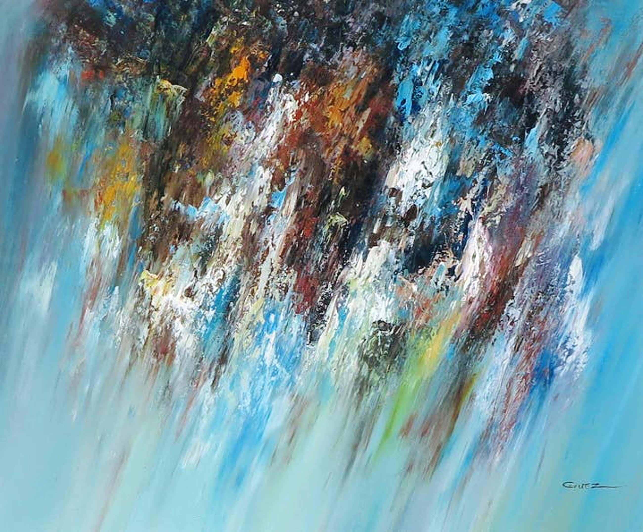 Niet of onleesbaar gesigneerd - Zonder titel, schilderij acrylverf kopen? Bied vanaf 1!
