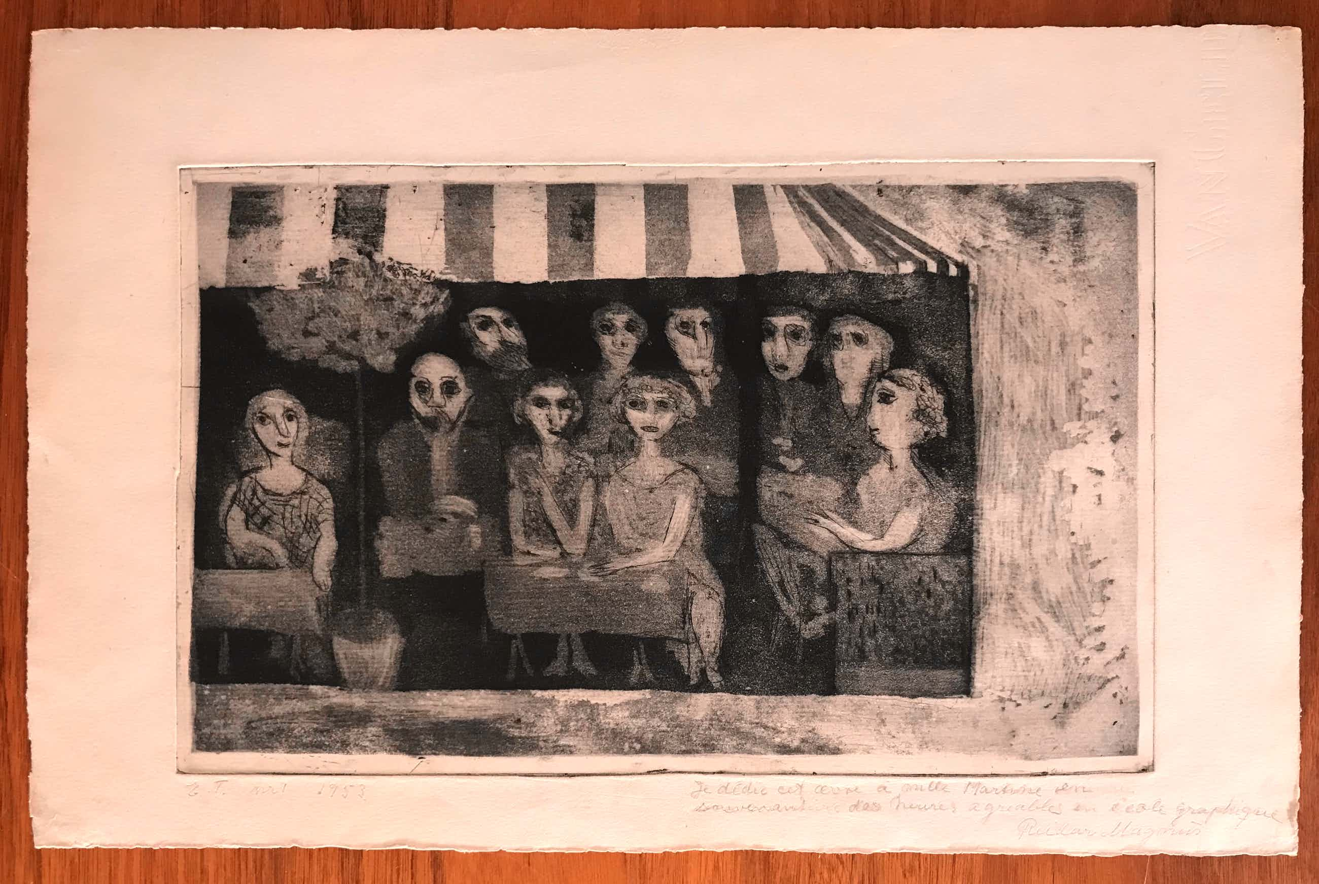 Reidar Magnus - Lithografie - 1953 - Gesigneerd kopen? Bied vanaf 55!