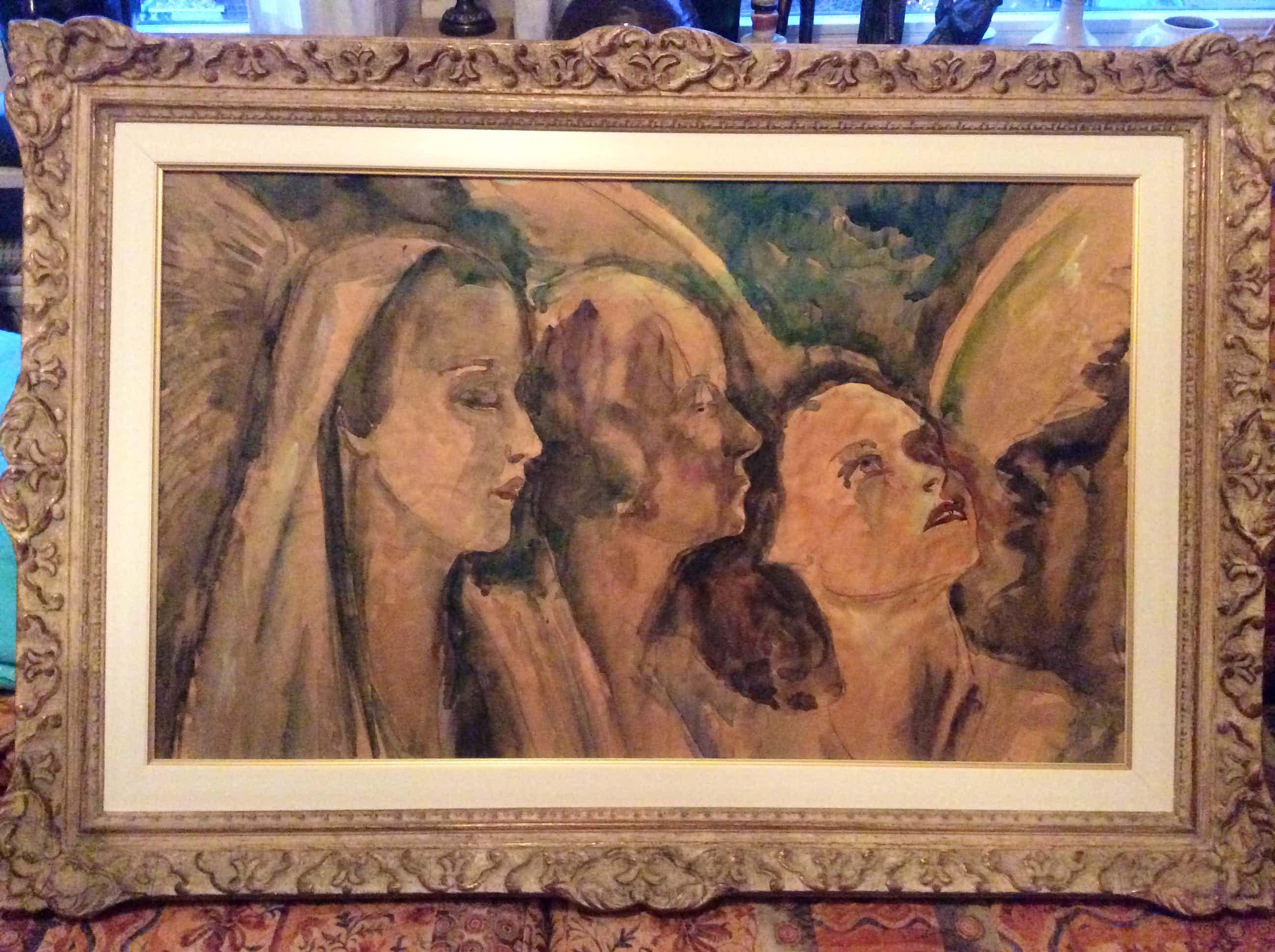 Jacobus Doeser - 1884-1970 3 engelen kopen? Bied vanaf 175!