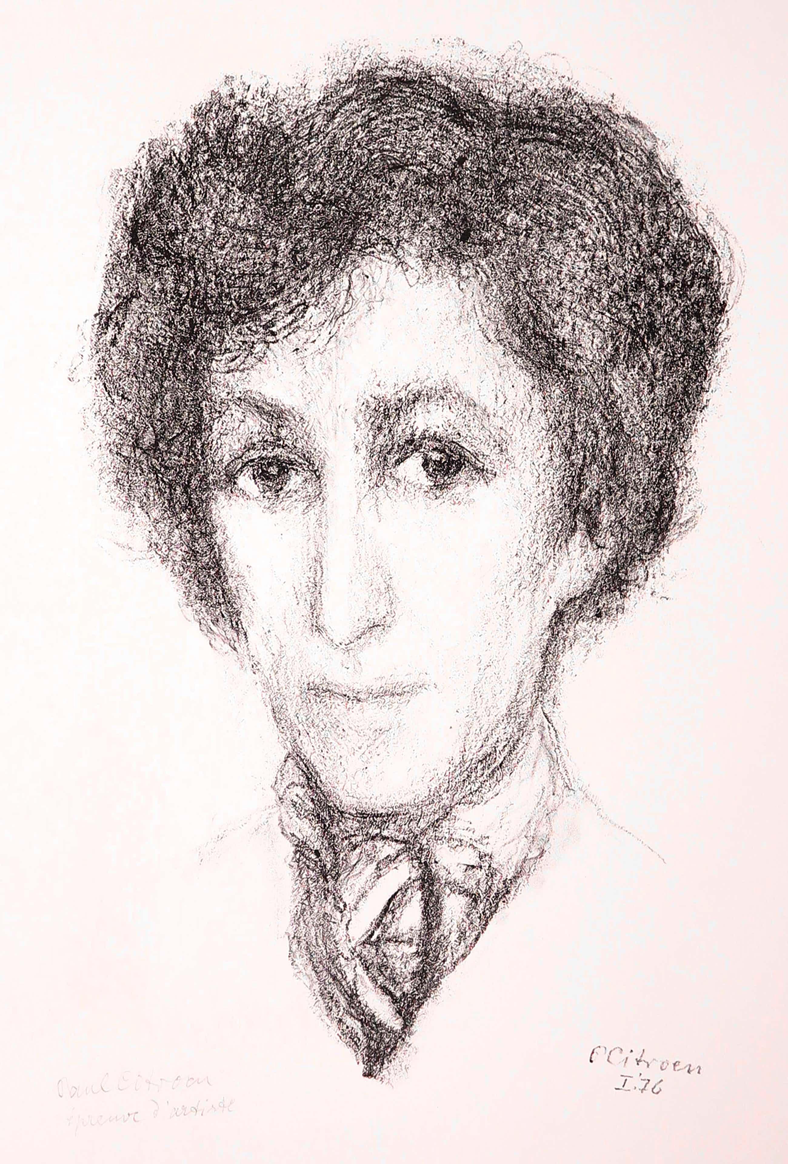 Paul Citroen - Litho, Portret van Citroen's vrouw kopen? Bied vanaf 75!