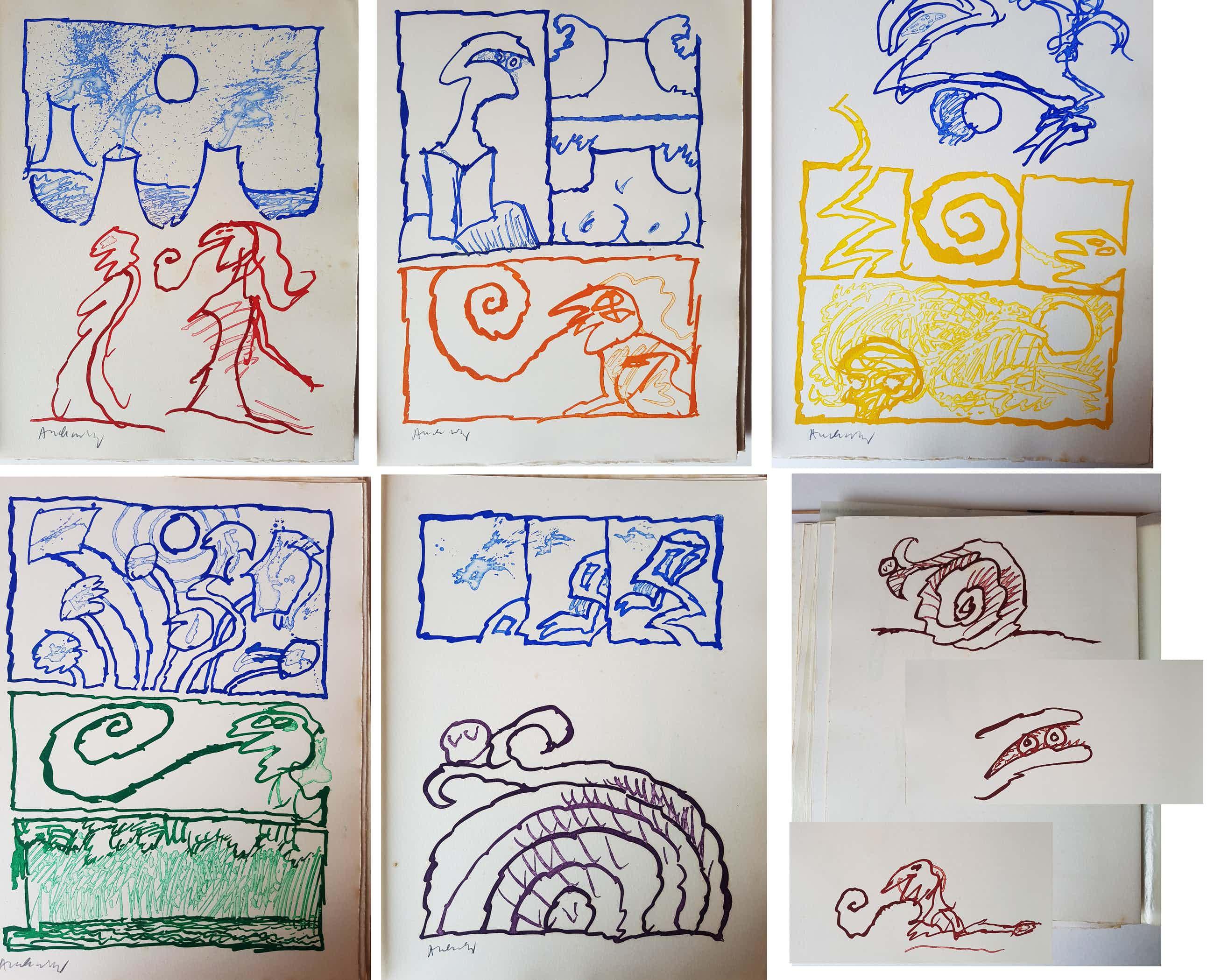 Pierre Alechinsky - Le rêve de l'ammonite kopen? Bied vanaf 2500!