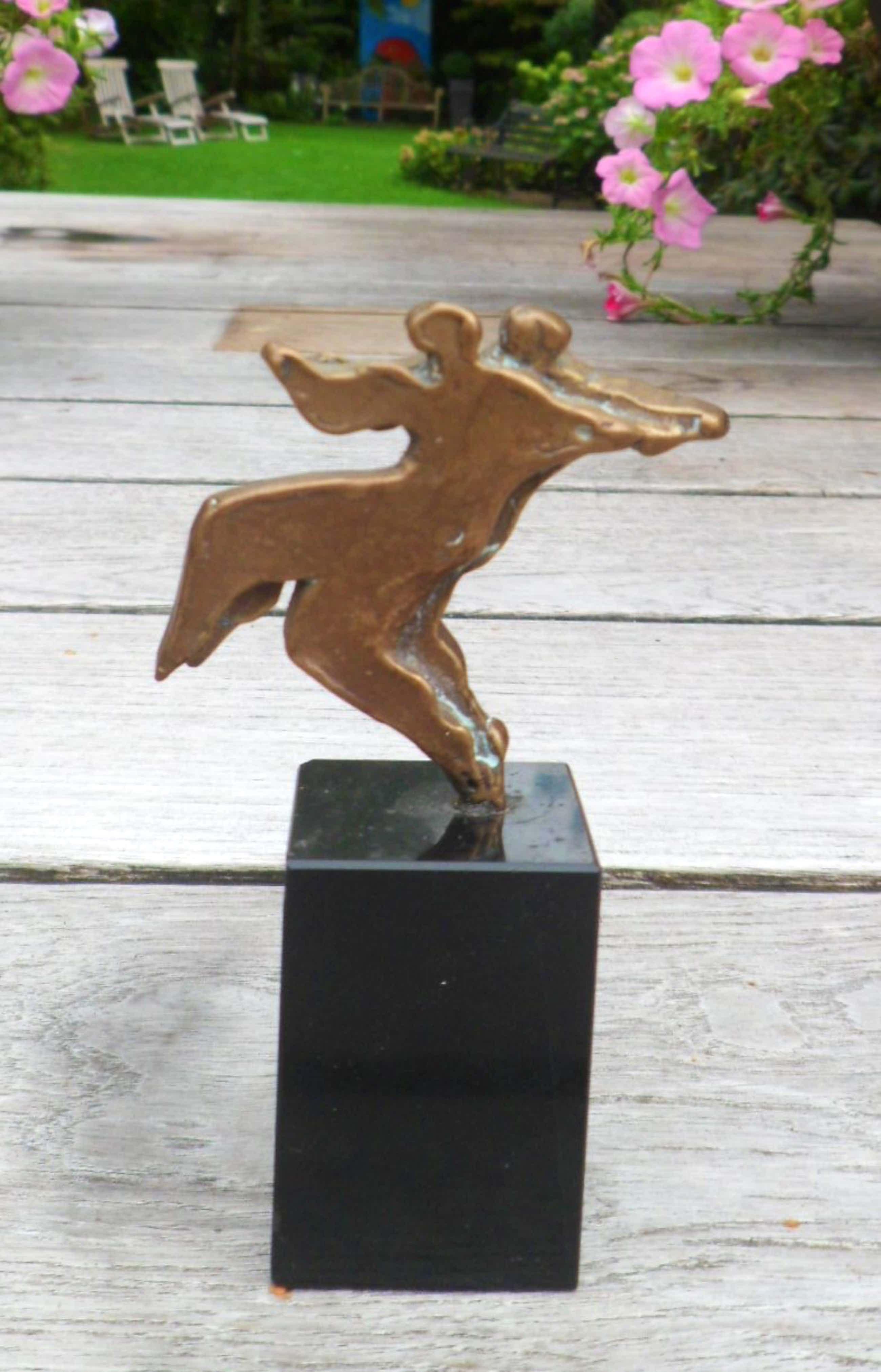 Eric Claus - brons op sokkel - Tango - prachtig patina! kopen? Bied vanaf 159!