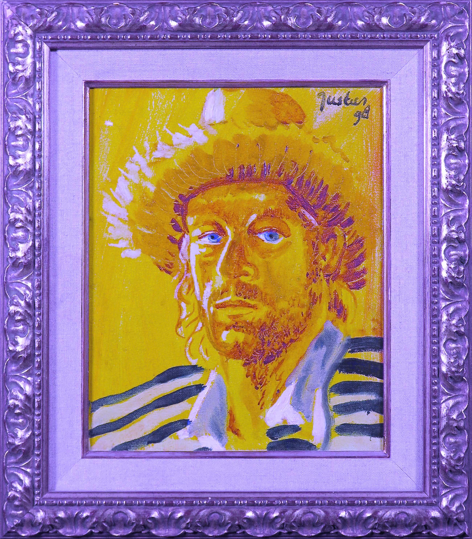 Justus Donker - Olieverf op doek, Zelfportret als Van Gogh kopen? Bied vanaf 50!