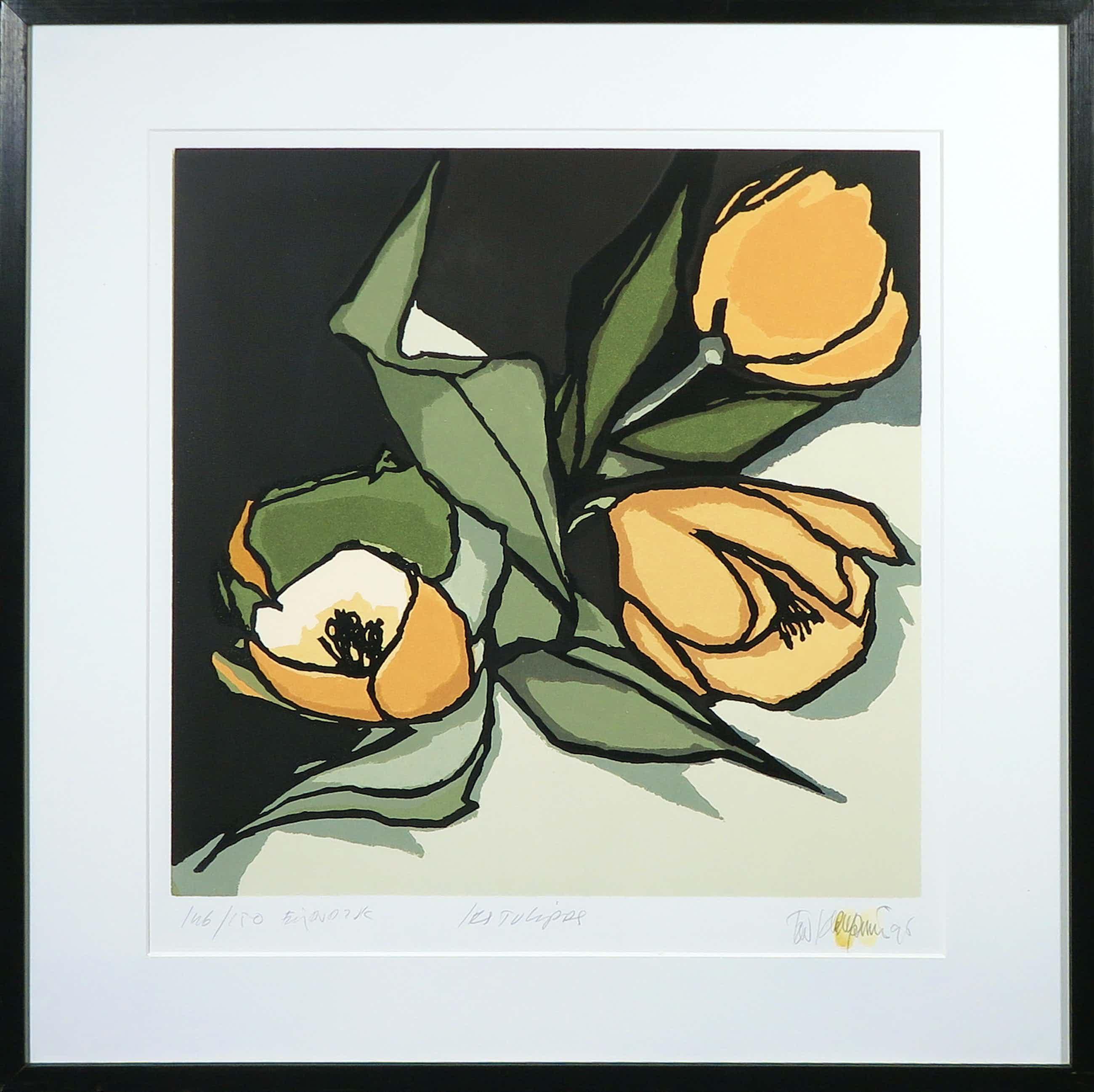Fon Klement - Boardsnede, Les Tulips - Ingelijst kopen? Bied vanaf 201!