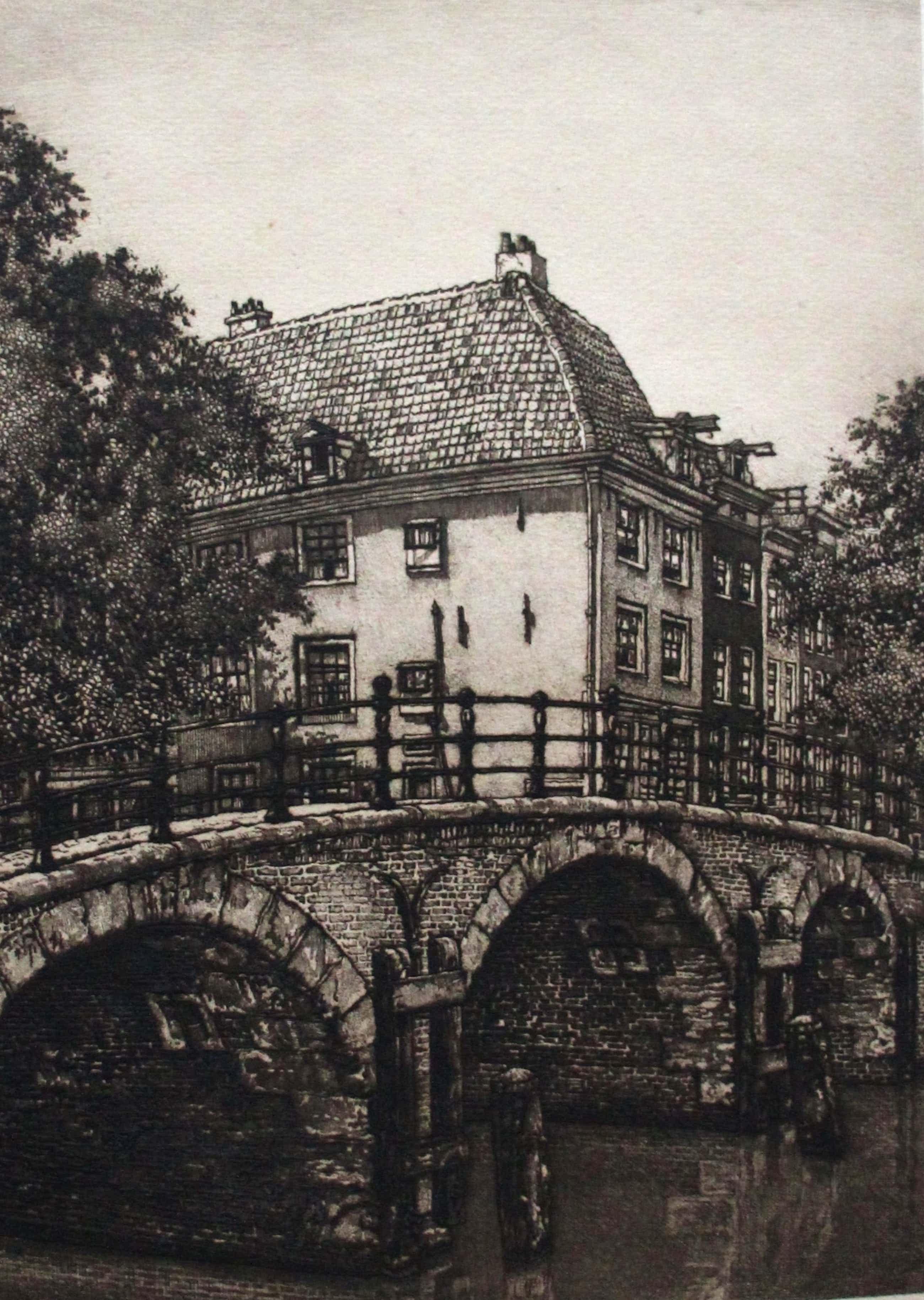 Cornelis Brandenburg - Ets: Amstel - 1917 kopen? Bied vanaf 75!