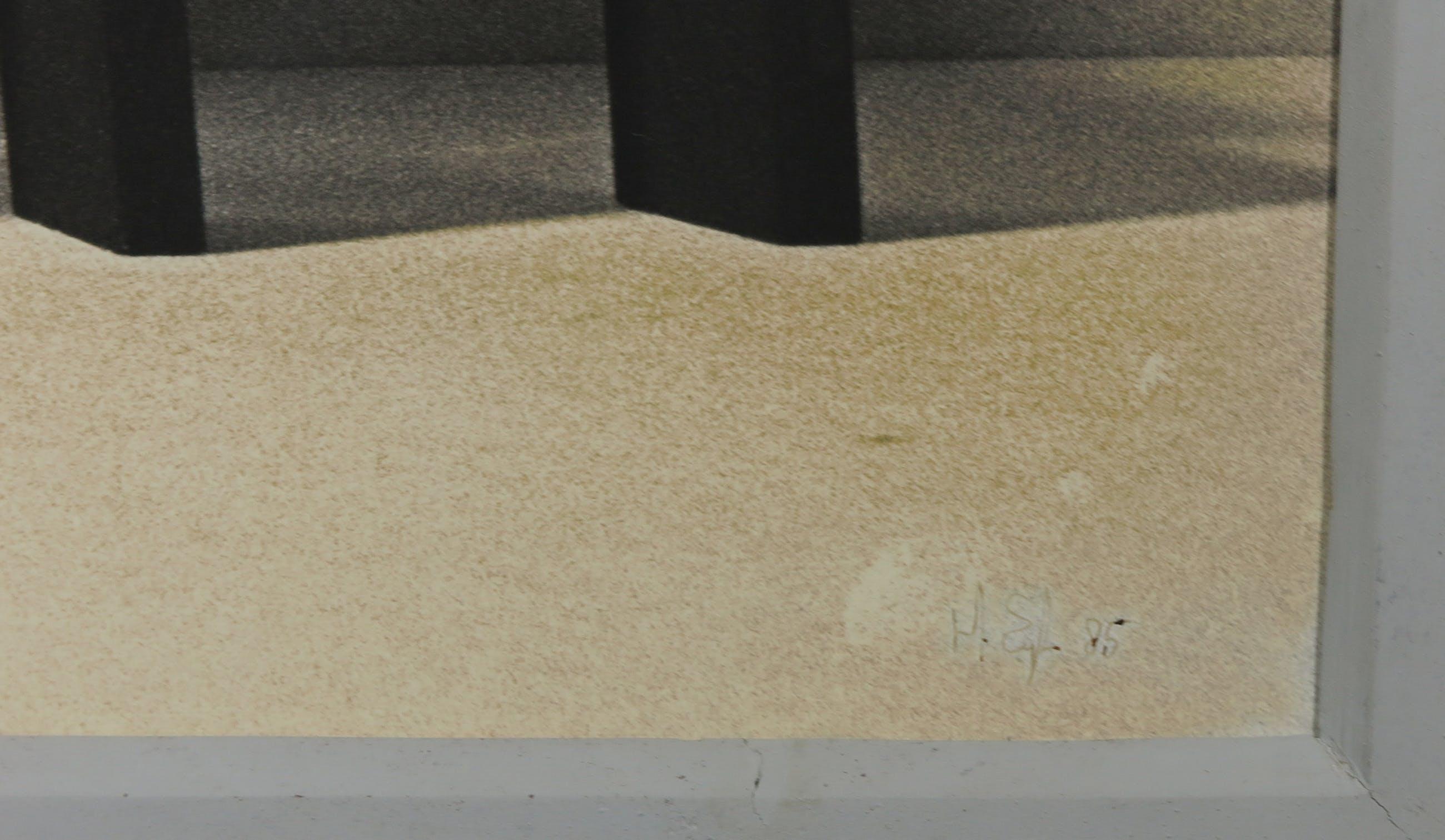 Hans Eijkelboom - Foto, Gebouw met drie stoelen- Ingelijst (Groot) kopen? Bied vanaf 1!
