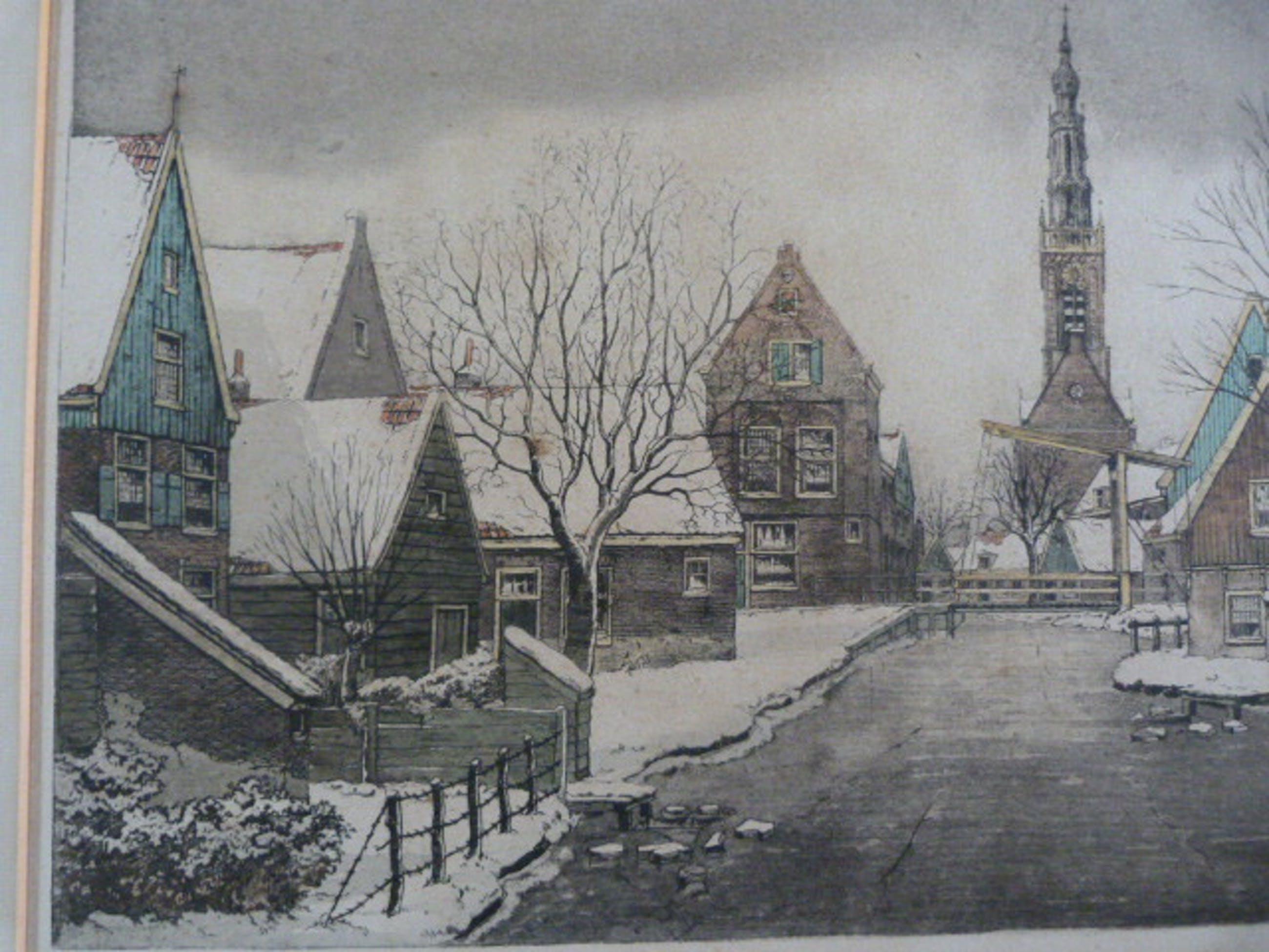 Antoon Hemert - Edam en Boerderij in winter kopen? Bied vanaf 62!