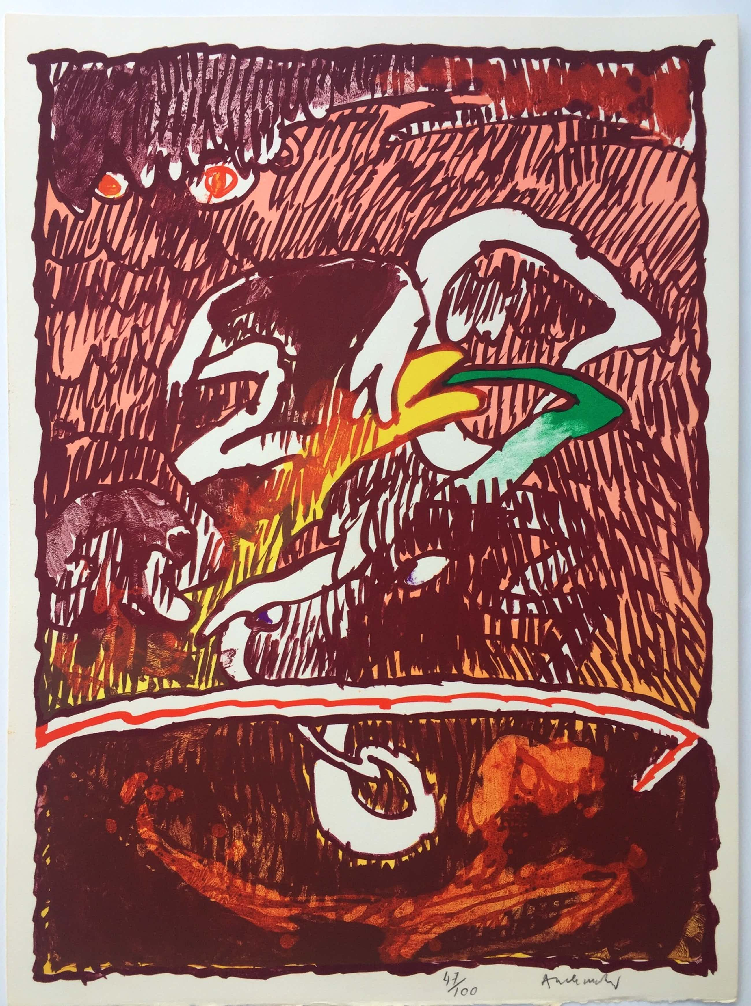 Pierre Alechinsky - litho 'Invisible Flying Objects' - 1978 kopen? Bied vanaf 725!