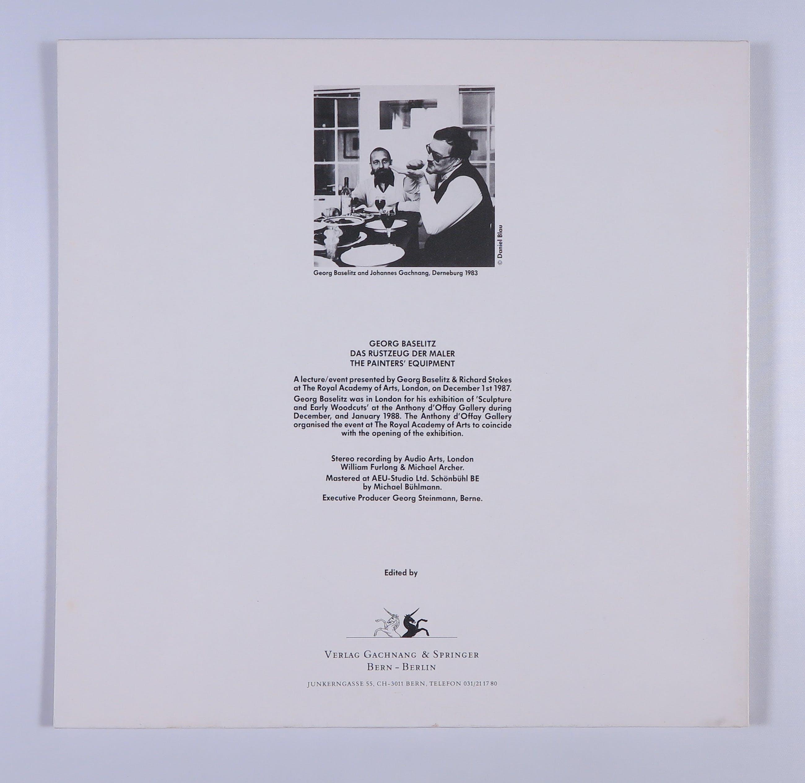 Georg Baselitz - Das Rüstzeug Der Maler / The Painters' Equipment kopen? Bied vanaf 45!