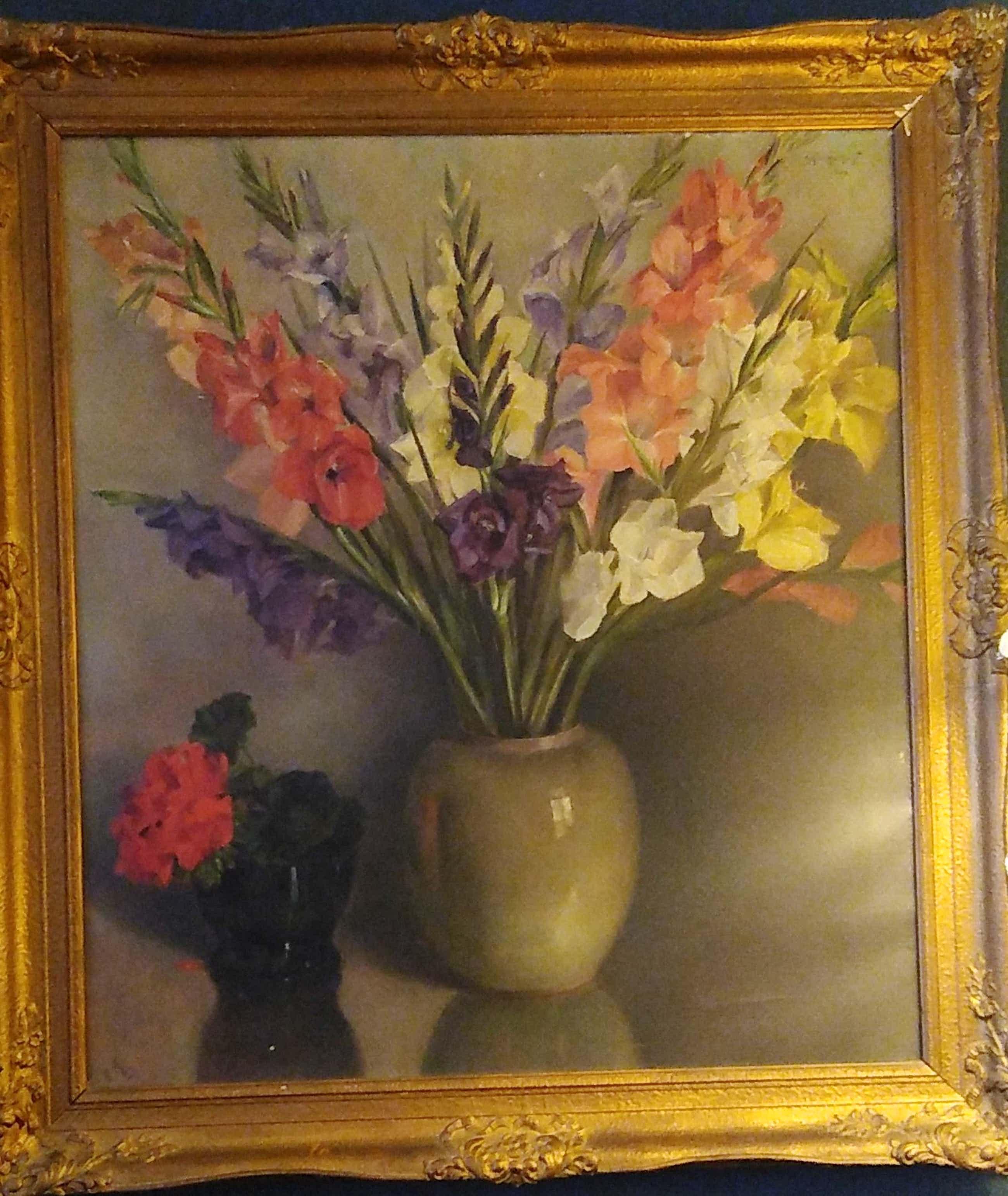 C.A. Lingmont - 2 vazen met bloemen kopen? Bied vanaf 55!