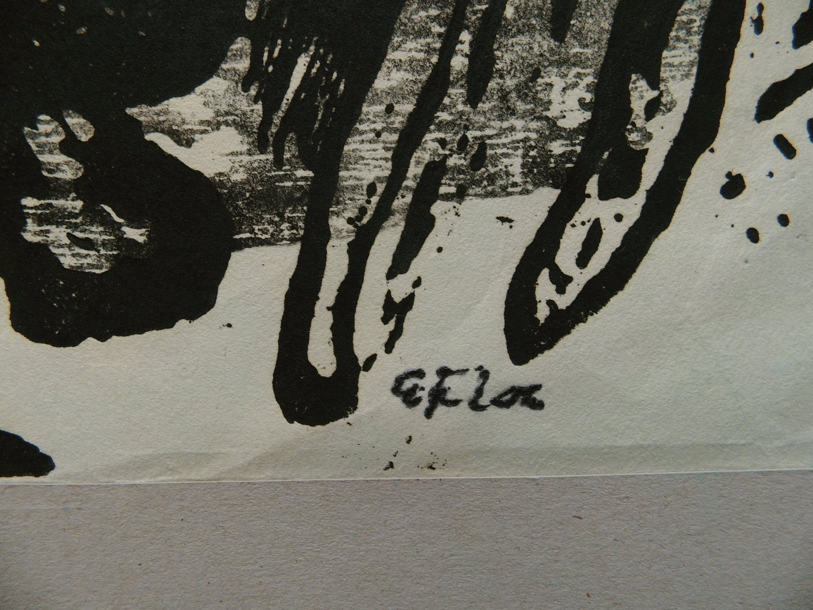 Eduard Flor - hout-linosnede , Abstract kopen? Bied vanaf 65!