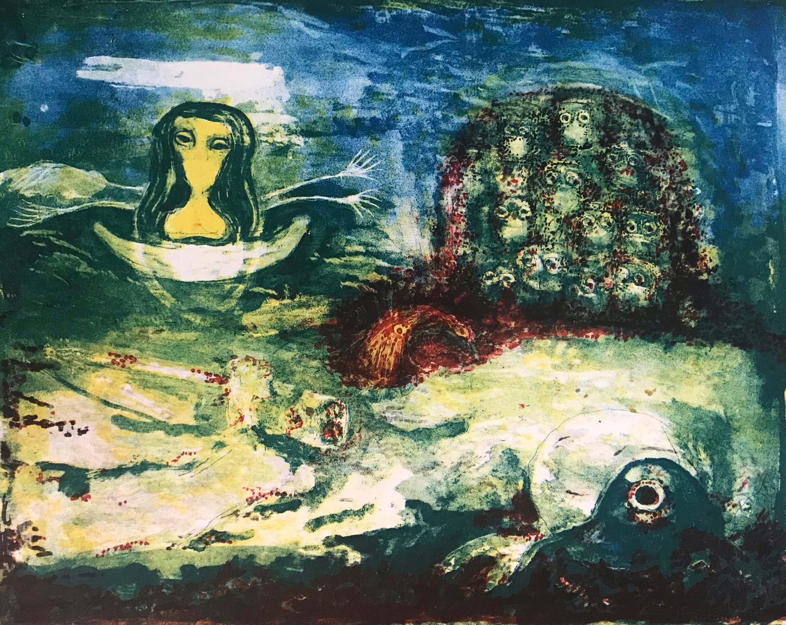 Reidar Magnus - Gesigneerde kleurenlitho - 1966 - 16/29 kopen? Bied vanaf 65!