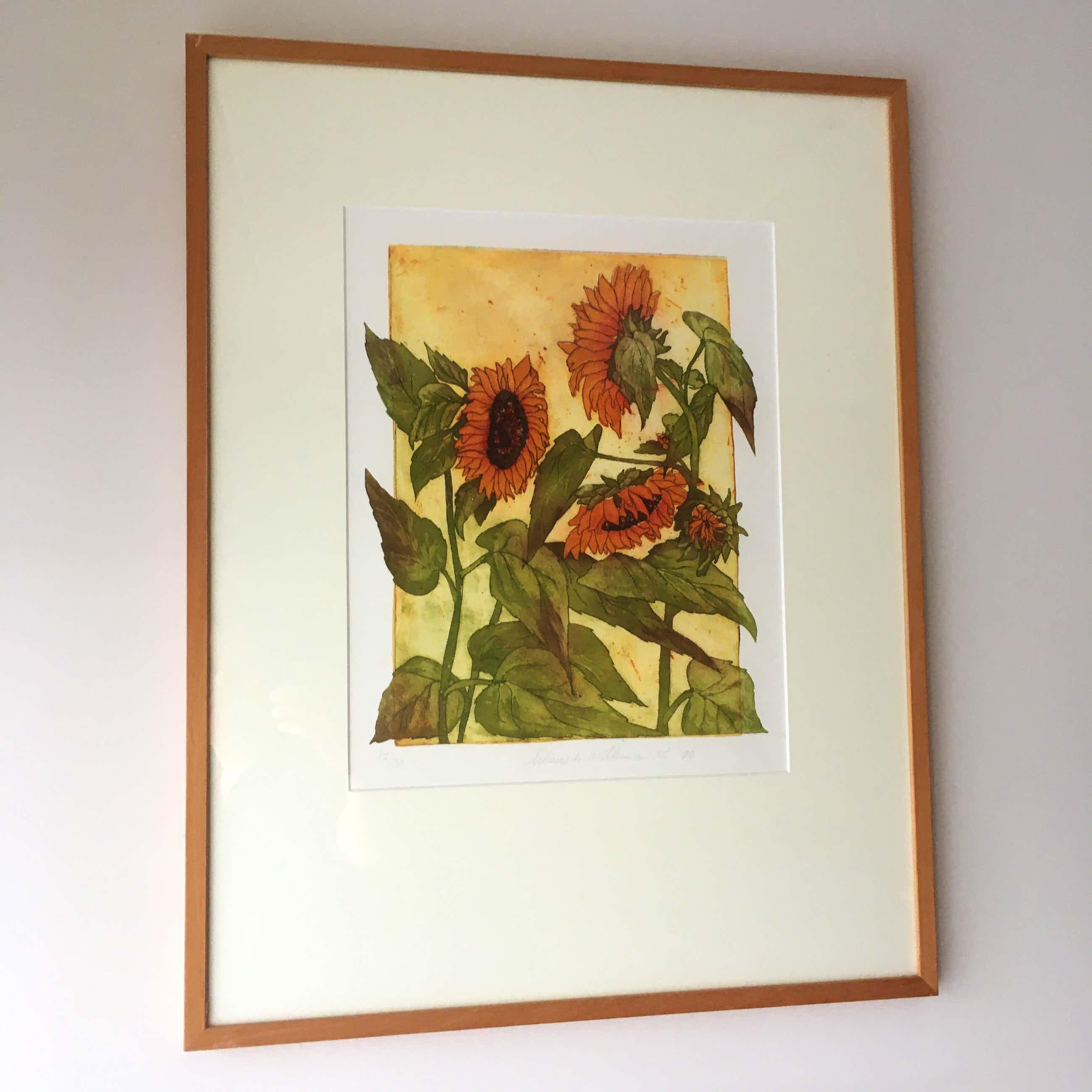 Willemien Holterman - kleurets Zonnebloemen kopen? Bied vanaf 100!