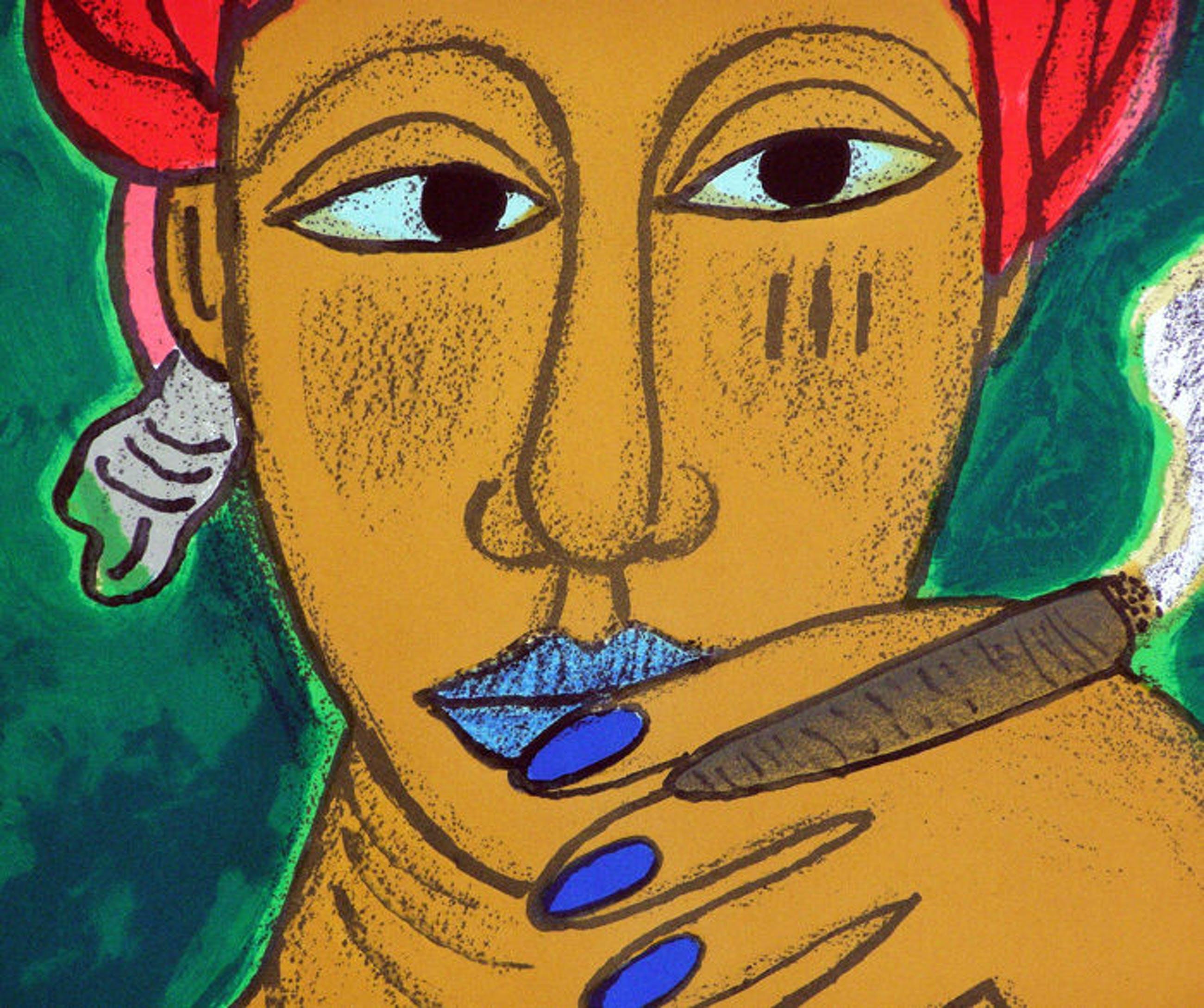 """Corneille - Litho, Titel,""""l'Afro-cubaine verte"""". kopen? Bied vanaf 225!"""