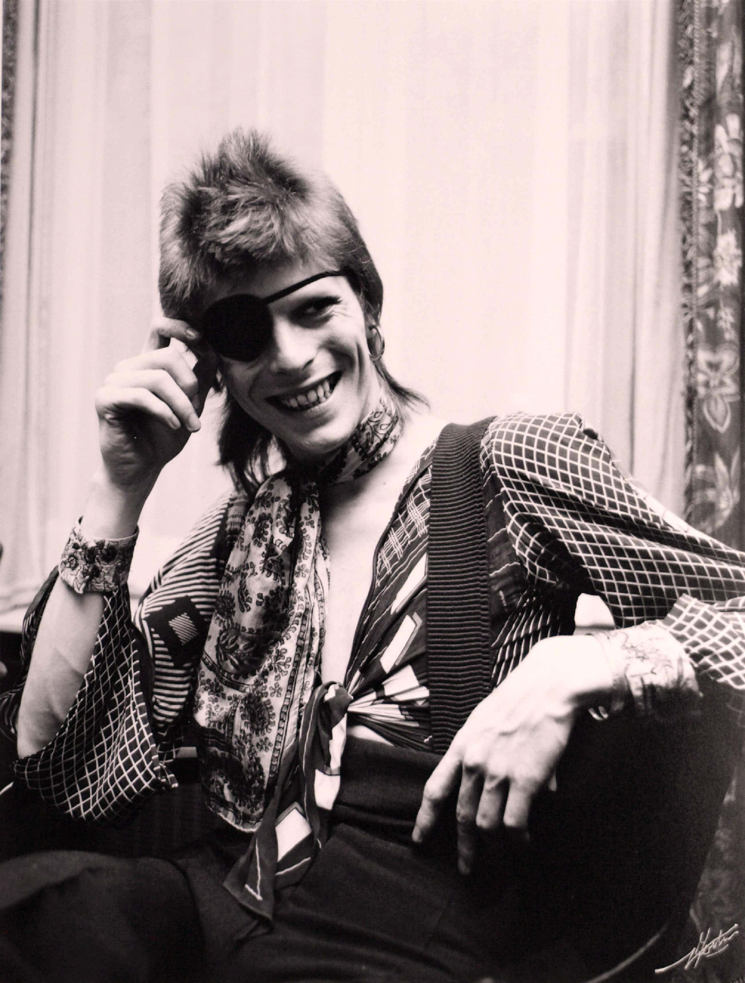 Nico Koster - Ingelijste foto van David Bowie in het Amstel Hotel Amsterdam 1973 kopen? Bied vanaf 195!
