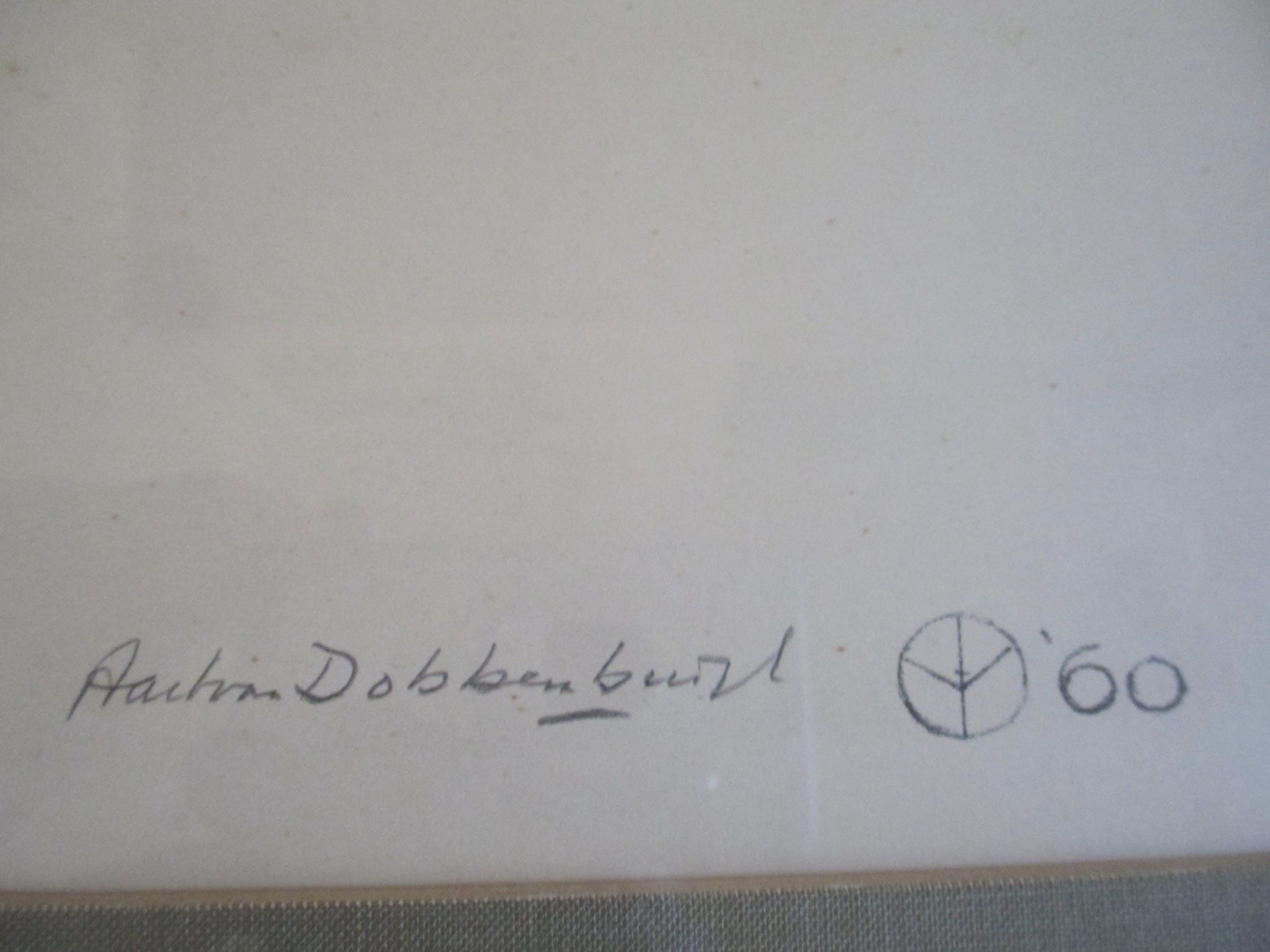 """Aart van Dobbenburgh - Grote ingelijste litho """"Marthy"""" kopen? Bied vanaf 60!"""