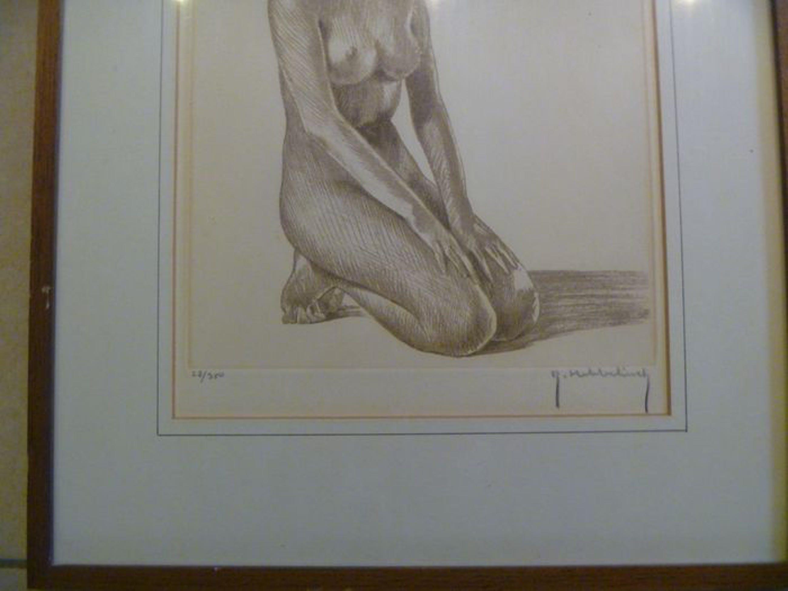Roger Hebbelinck - 2 prachtige litho's van een naakte dame , gesigneerd en ingelijst kopen? Bied vanaf 69!