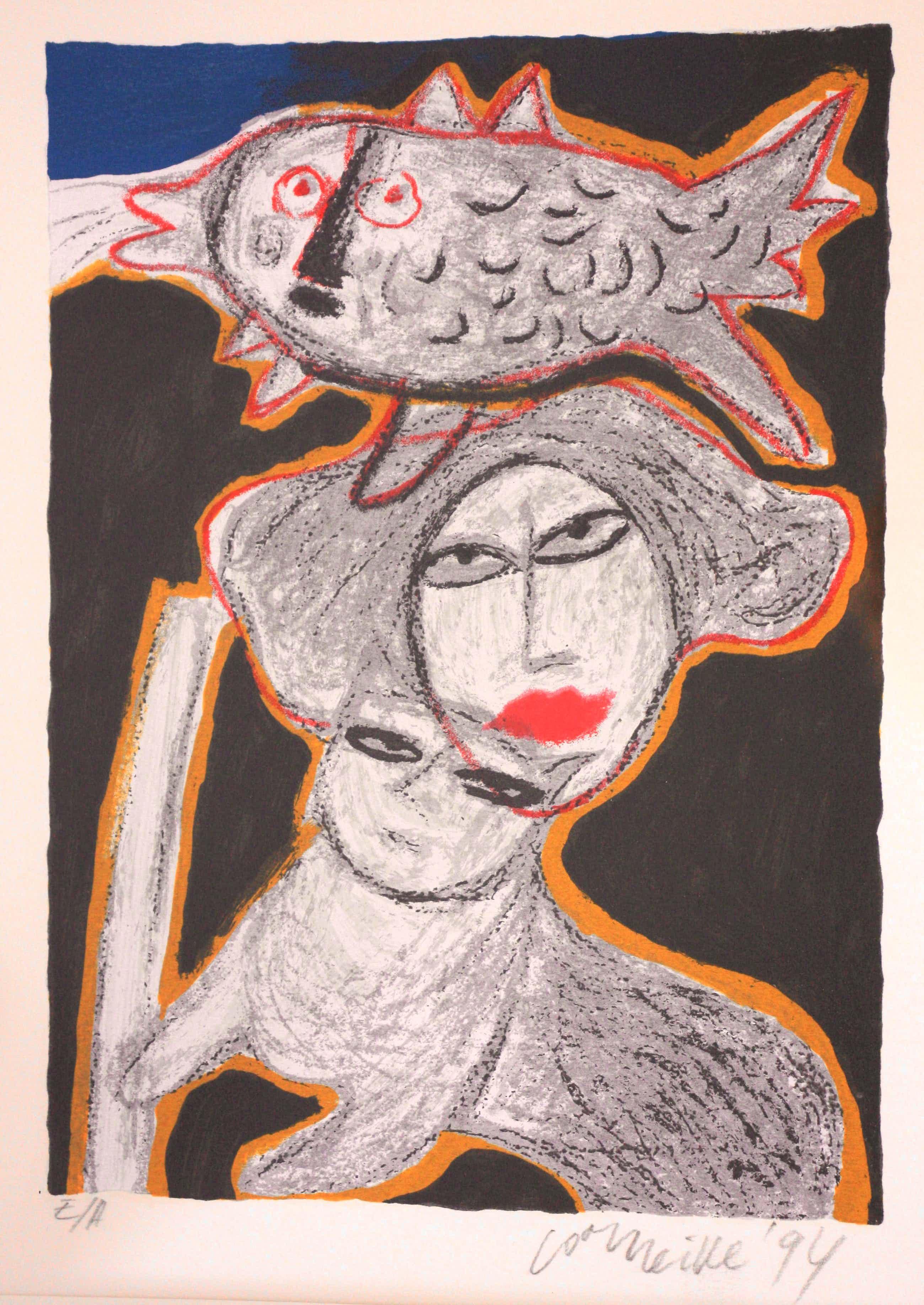 Corneille - Abstracte compositie met vrouw, vis en kat kopen? Bied vanaf 225!