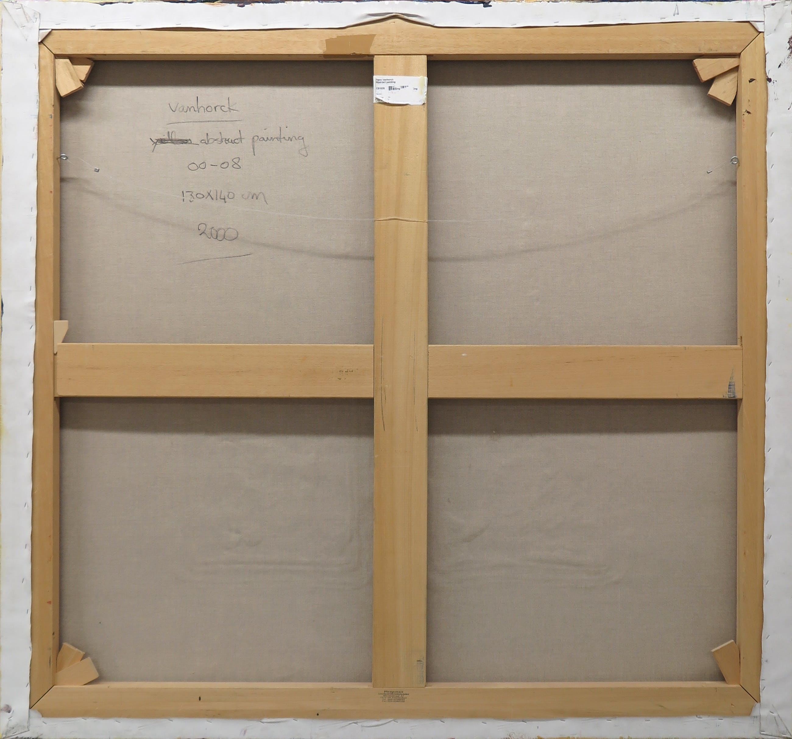 Hans Vanhorck - Olieverf op doek, Abstract painting (Zeer groot) kopen? Bied vanaf 600!