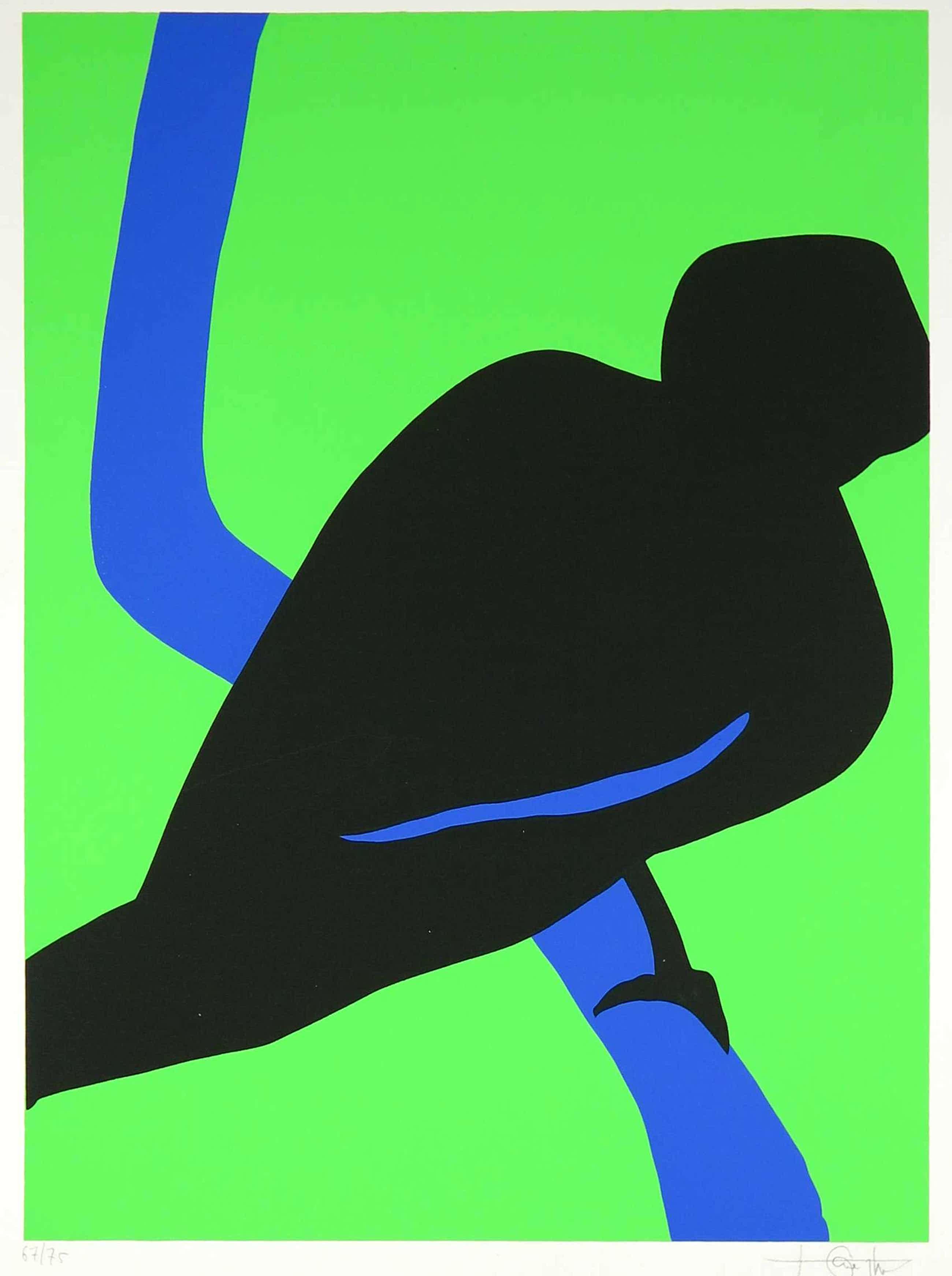 Niet of onleesbaar gesigneerd - Zeefdruk, Blackbird kopen? Bied vanaf 10!