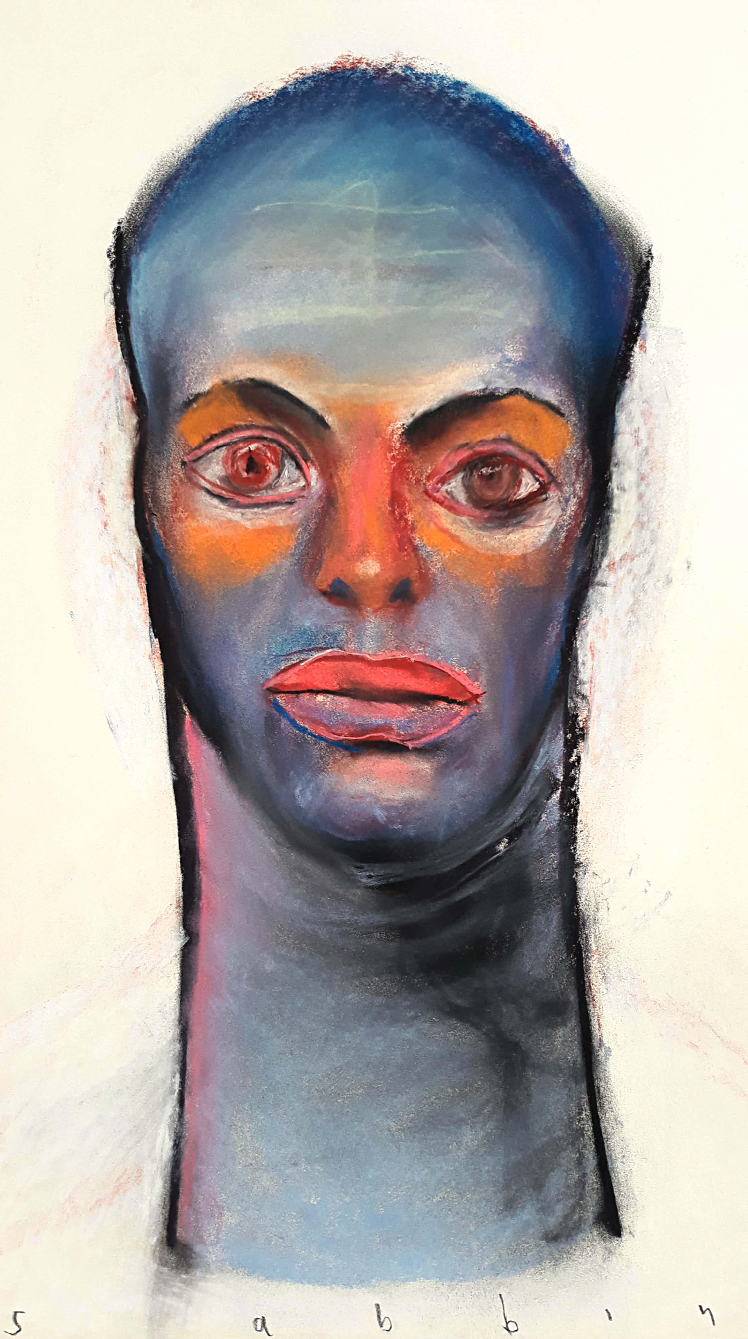 Hans Abbing - Portret van een man/vrouw, tekening met pastelkrijt kopen? Bied vanaf 295!