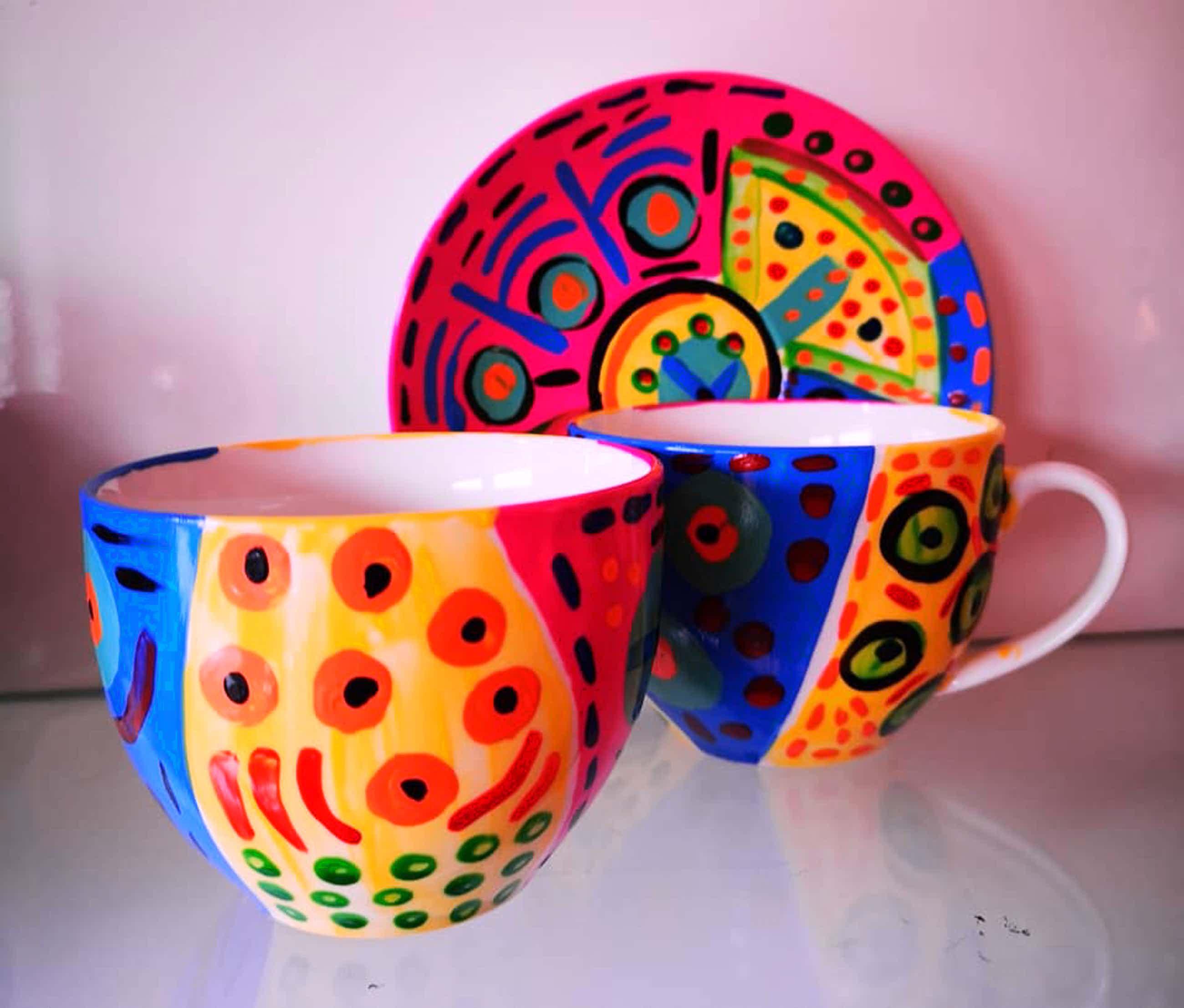Zippora Sahanaja - Zippora Design® Koffie kopjes twee stuks porselein kopen? Bied vanaf 10!
