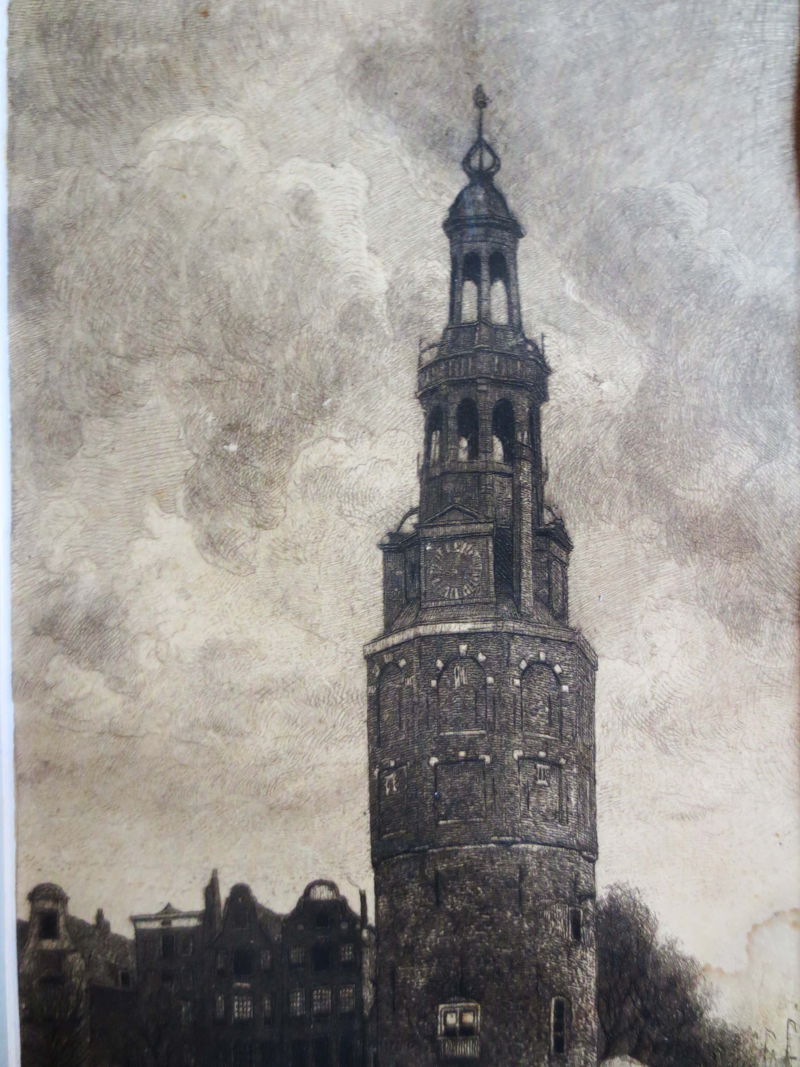 Johannes Graadt van Roggen - Amsterdam Montelbaanstoren. kopen? Bied vanaf 40!