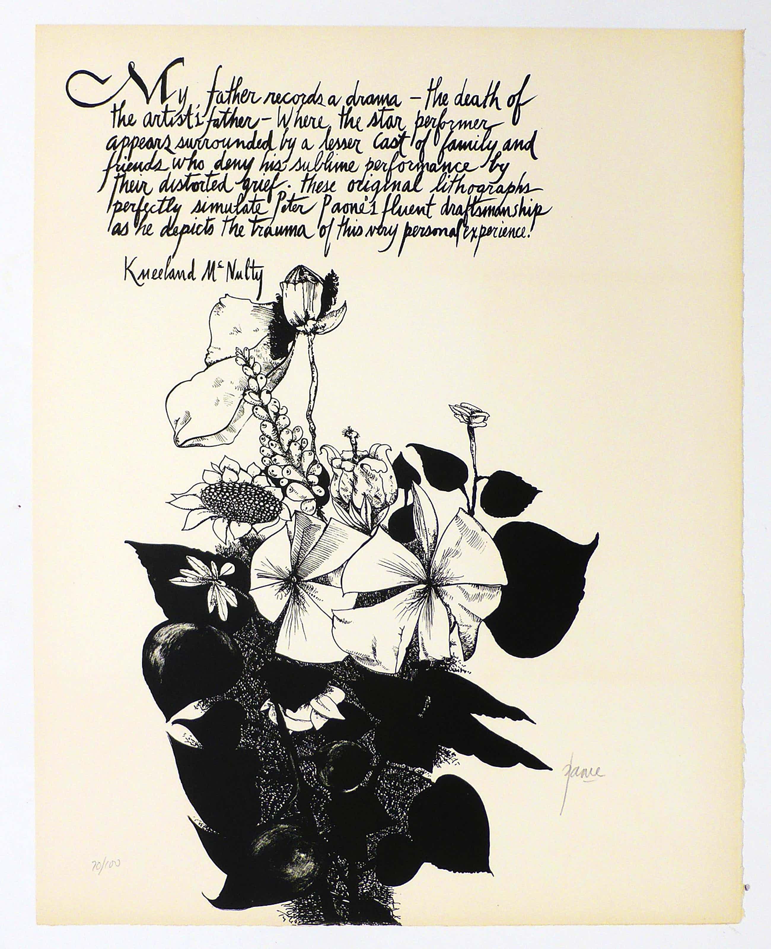 Peter Paone - -MY FATHER- 16 handsigNIERTE Lithografien auf handgesch. Arches-Bütten, 1969 kopen? Bied vanaf 490!