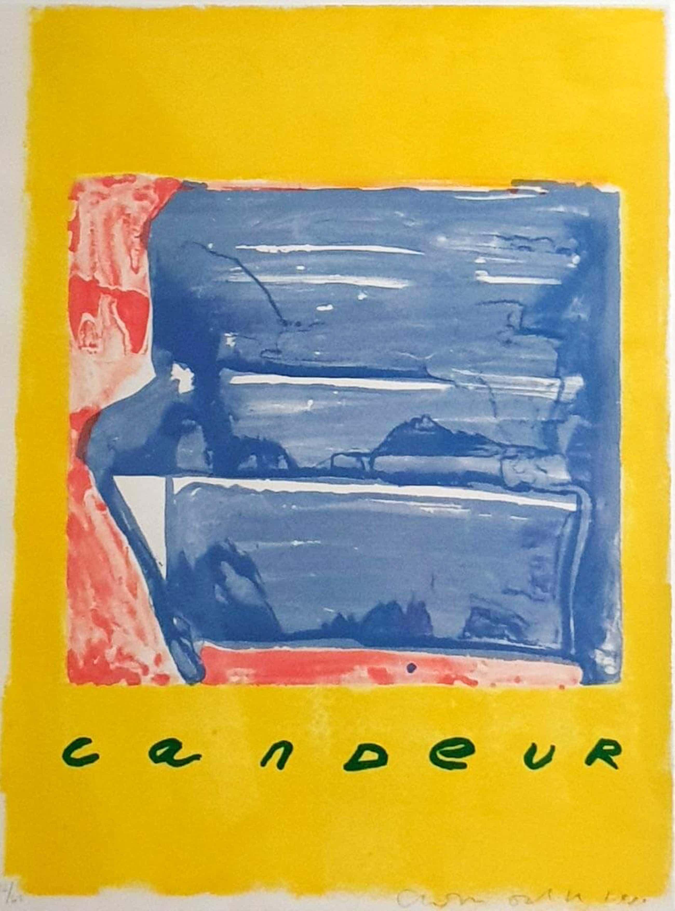 Cees Dolk - ingelijste zeefdruk: Candeur - 1990 kopen? Bied vanaf 55!