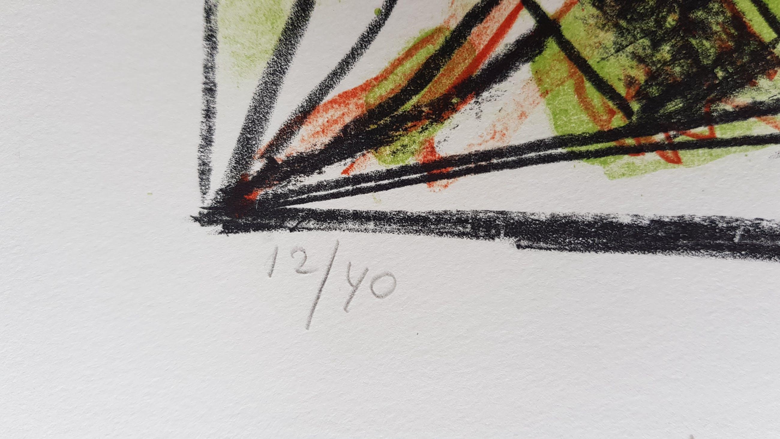 Lucebert - kleurenlitho 12/40 - gesigneerd - 1982 kopen? Bied vanaf 1!