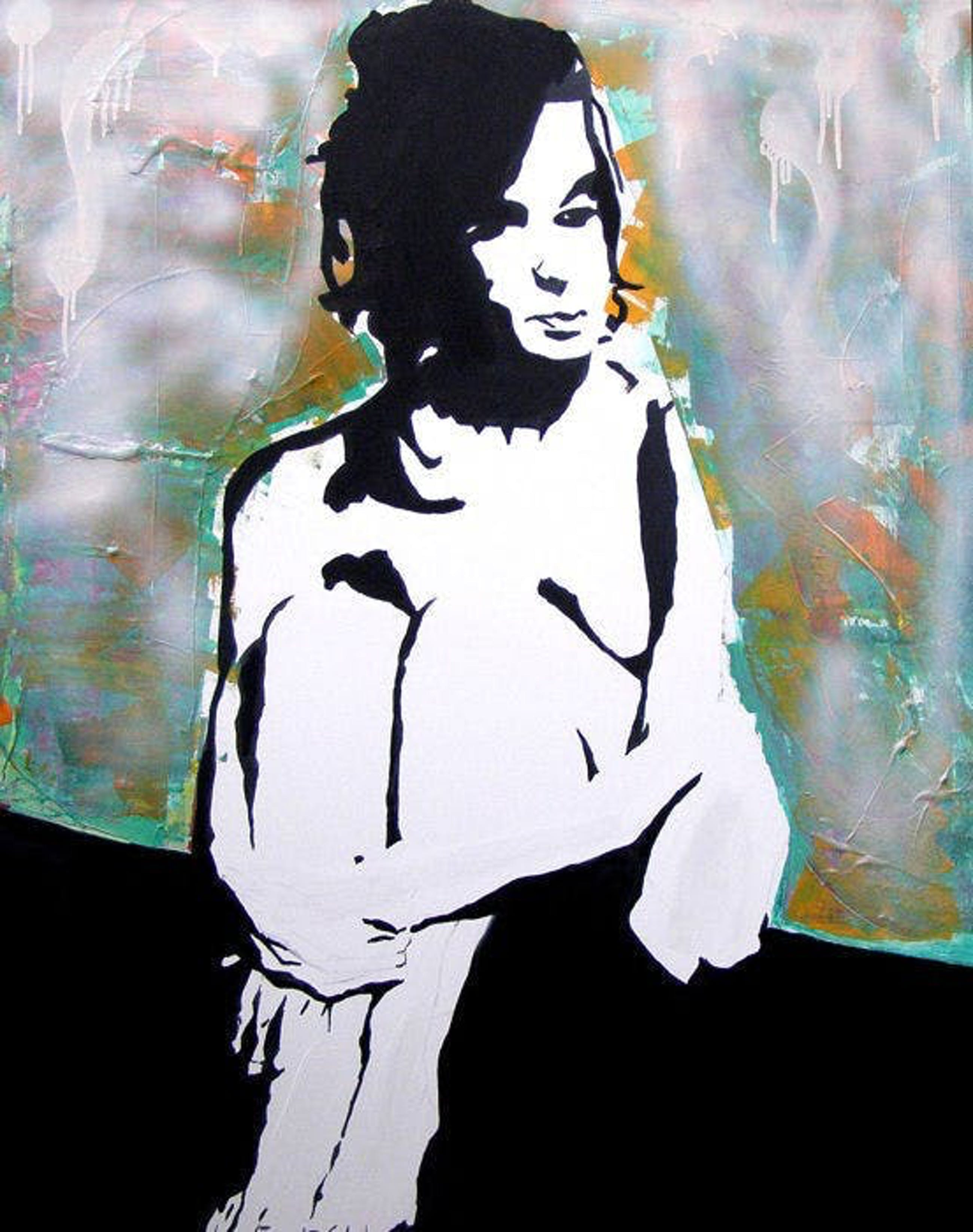 Dominik Smolik - Nude on the abstract background kopen? Bied vanaf 80!