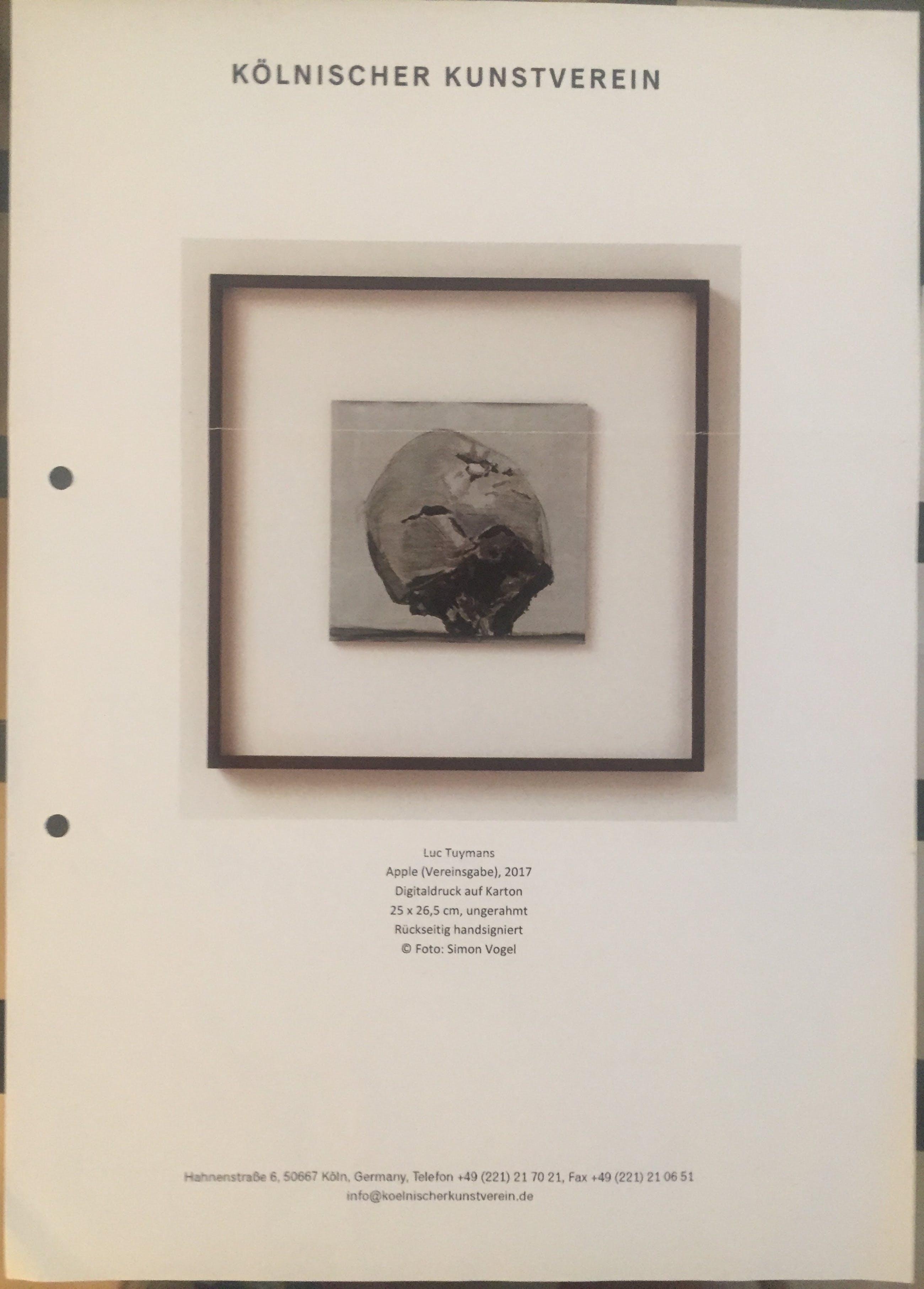 Luc Tuymans - Apple - signiert, exquisit gerahmt, Vereinsgabe Kunstverein kopen? Bied vanaf 850!
