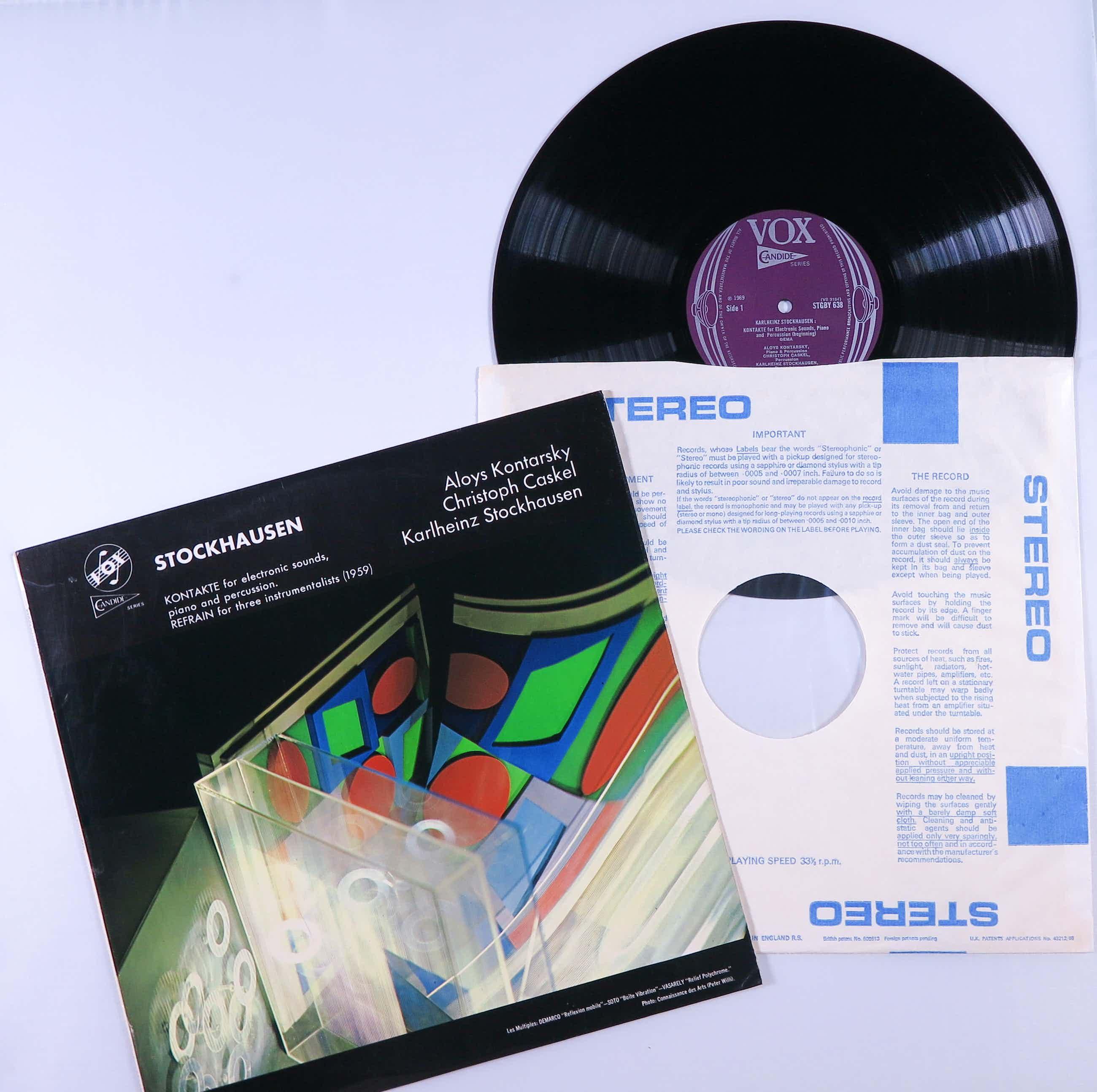 Karlheinz Stockhausen - Kontakte For Electronic Sounds kopen? Bied vanaf 15!