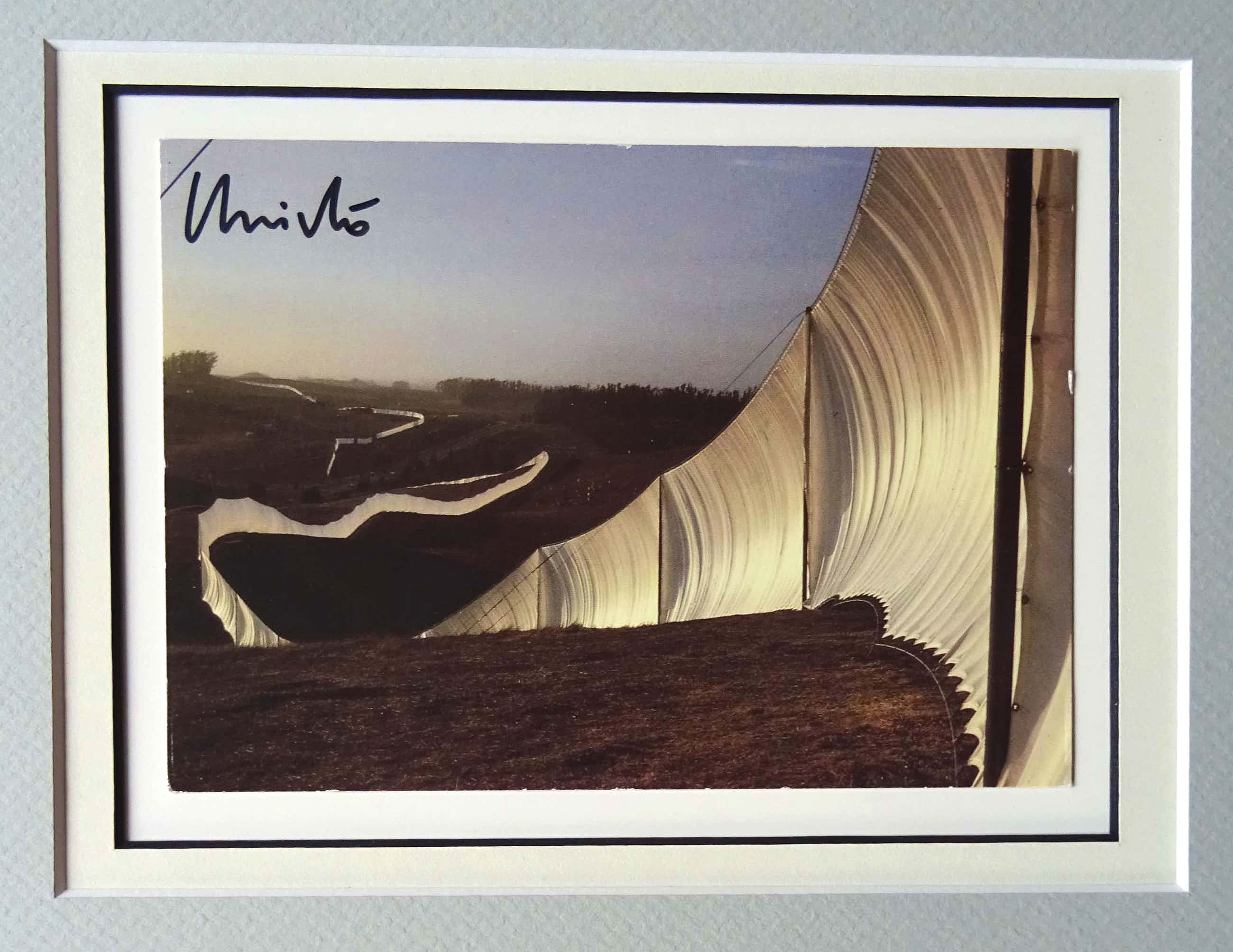 Christo - Collage Project Running Fence - handgesigneerd inc. stofmonster - ready to frame kopen? Bied vanaf 129!