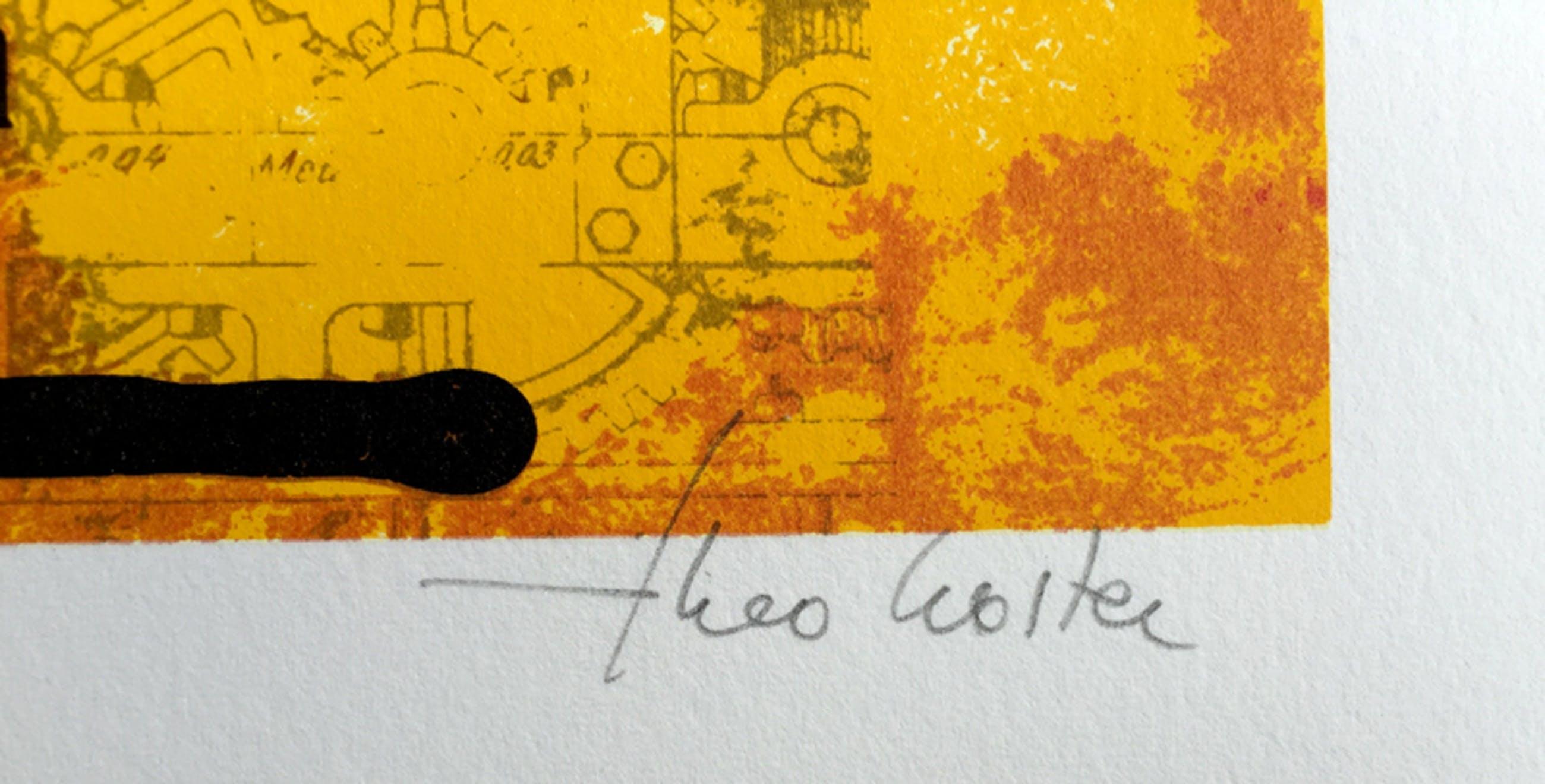 Theo Koster - Rode Compositie kopen? Bied vanaf 25!